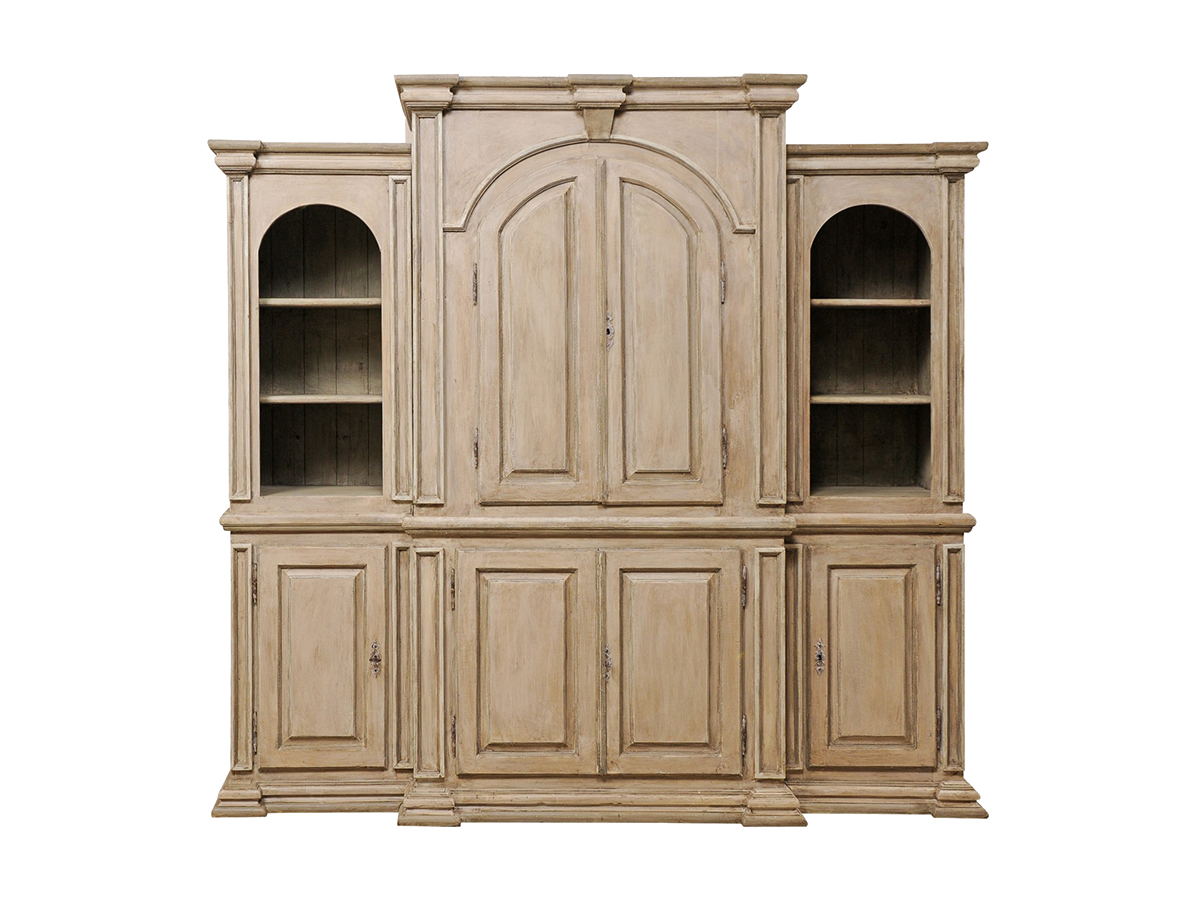 Large Sized Painted Wood Cabinet