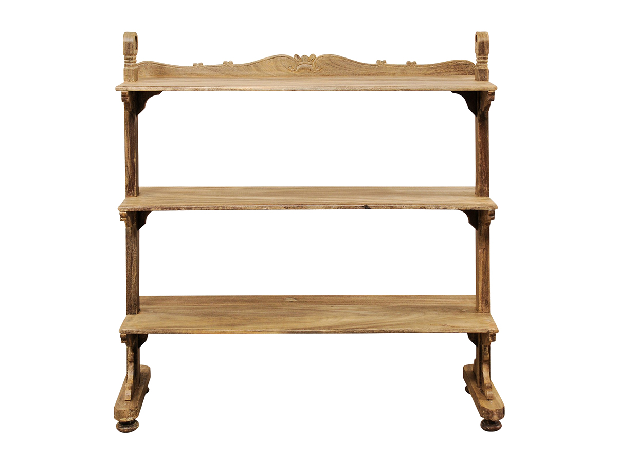 Teak Wood Open Display Shelves