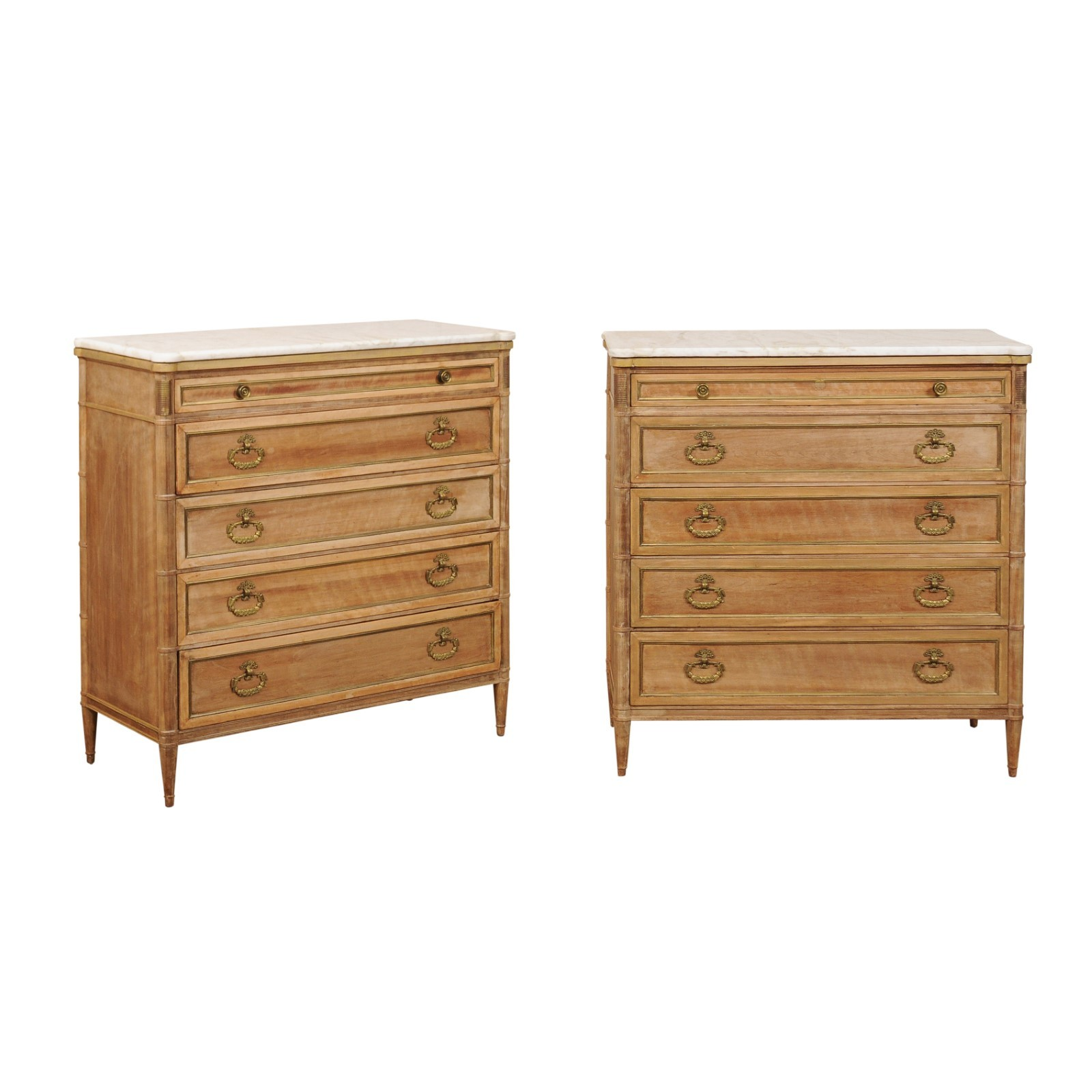 French Directoire Style Tallboy Chests