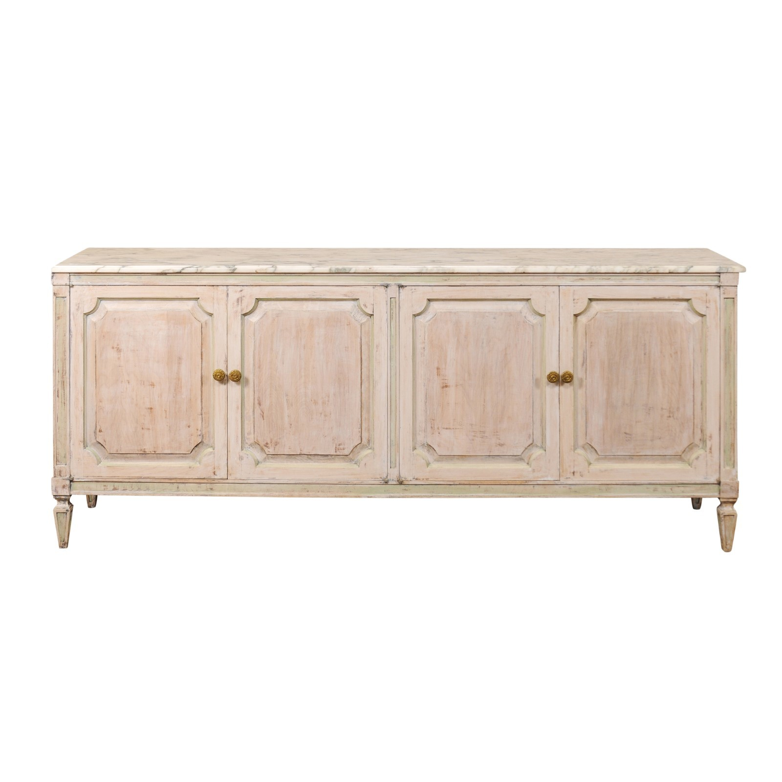 7 ft. Buffet w/Marble Top & Cool Tones