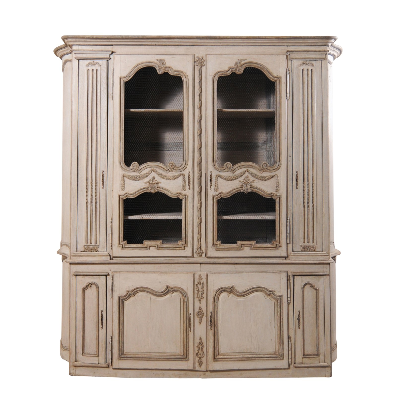 French Display & Storage Cabinet, 8+Ft Wide