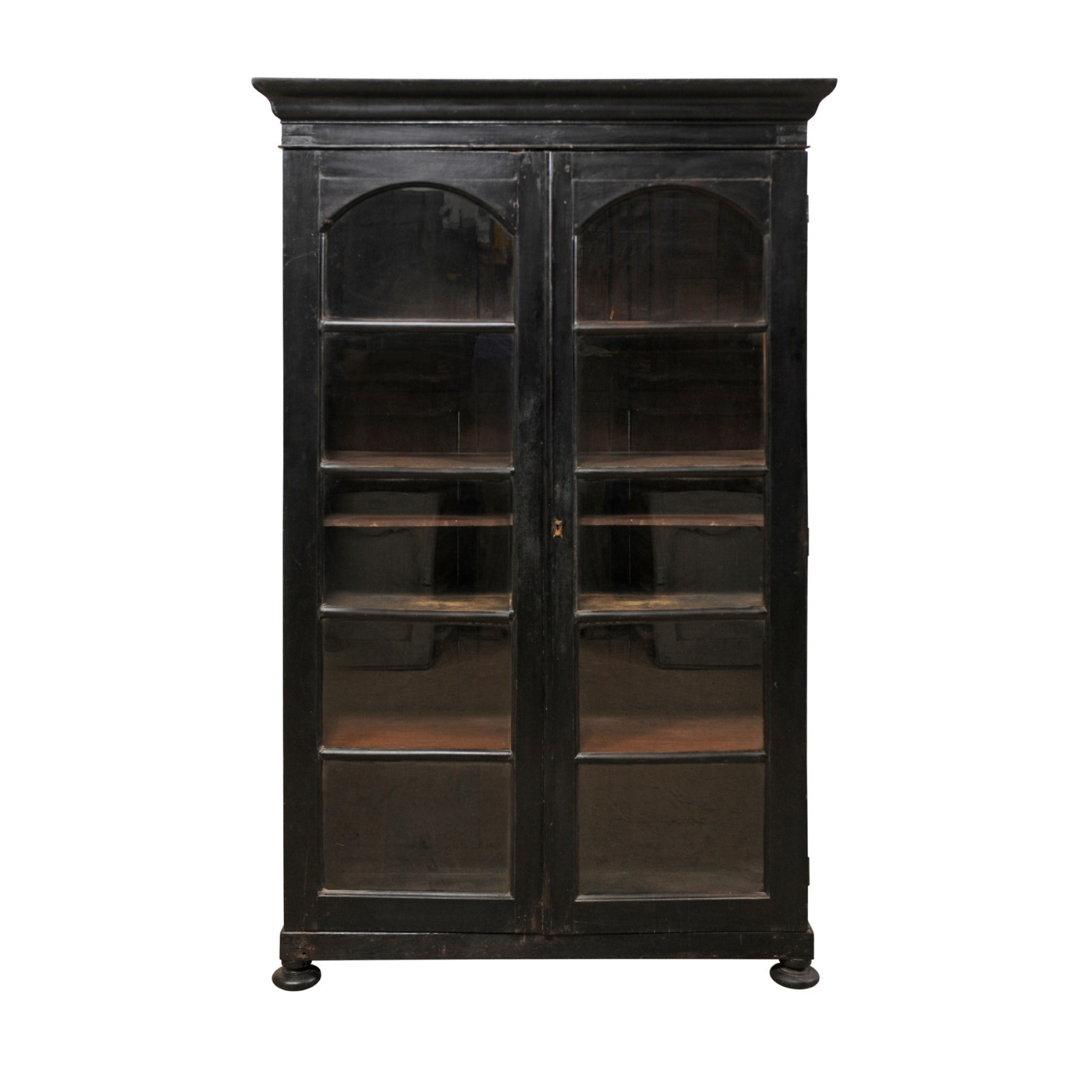 British Colonial Tall Display Cabinet