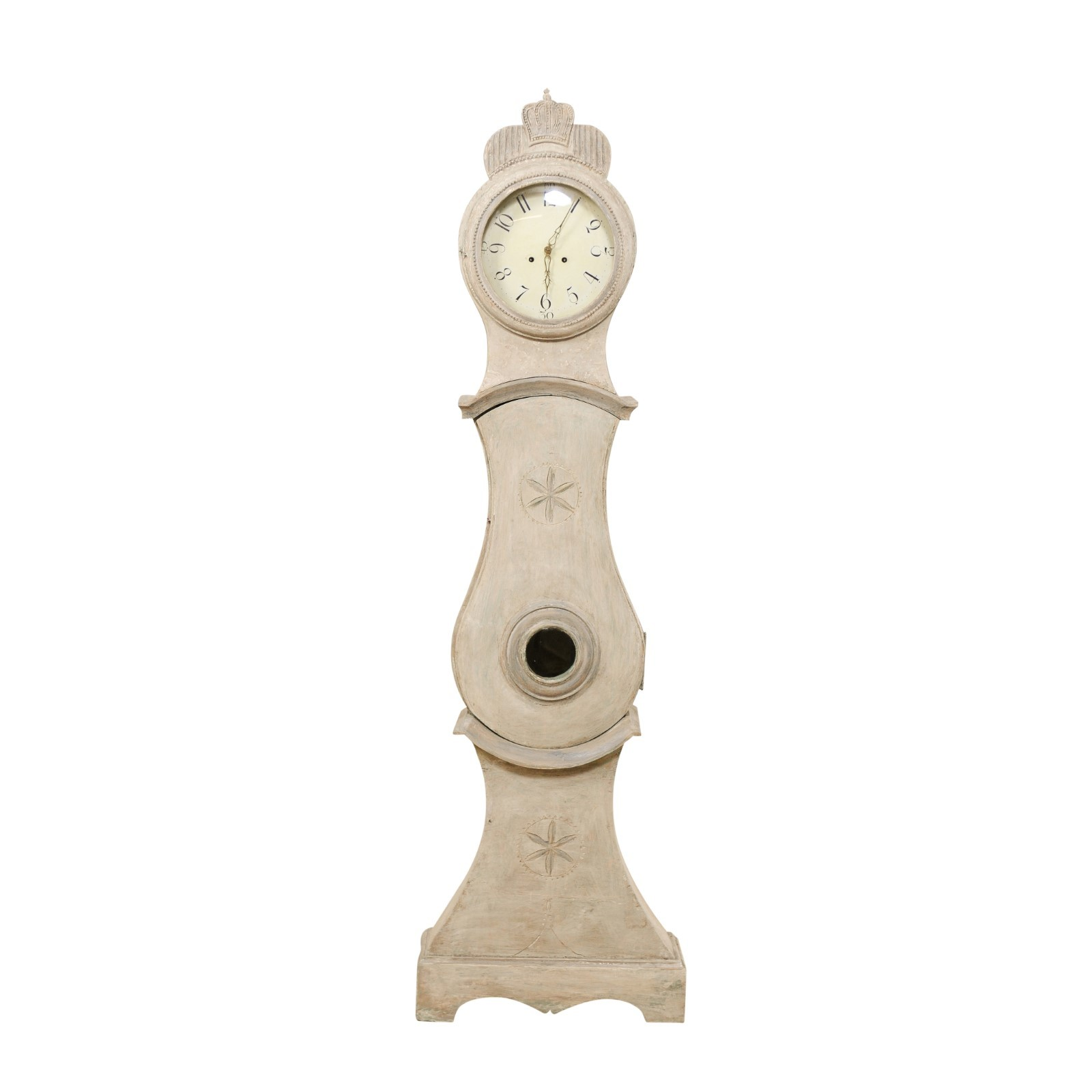 A Central Swedish Floor Clock w/Crown Crest