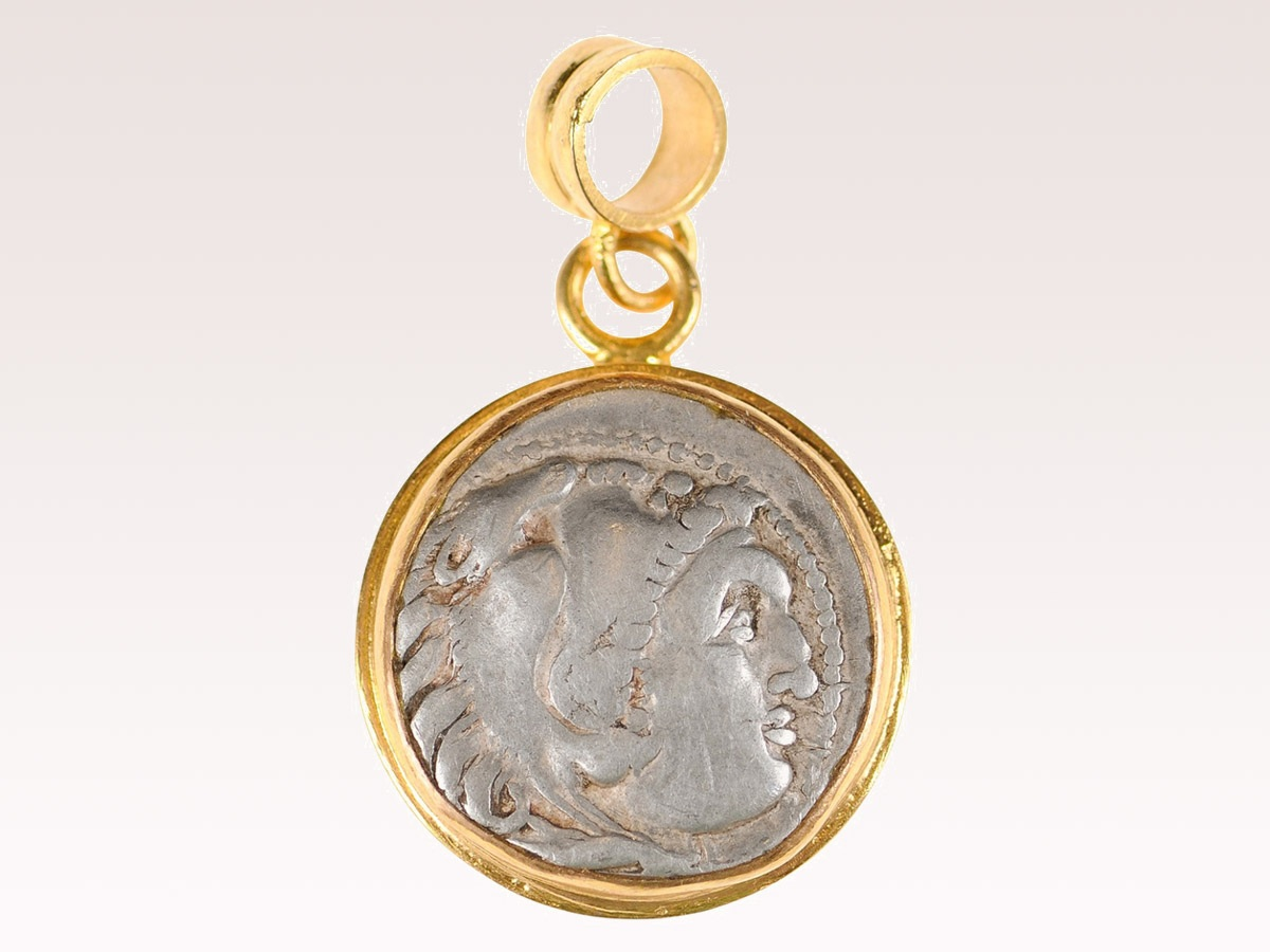 Ancient Greek Drachm Pendant