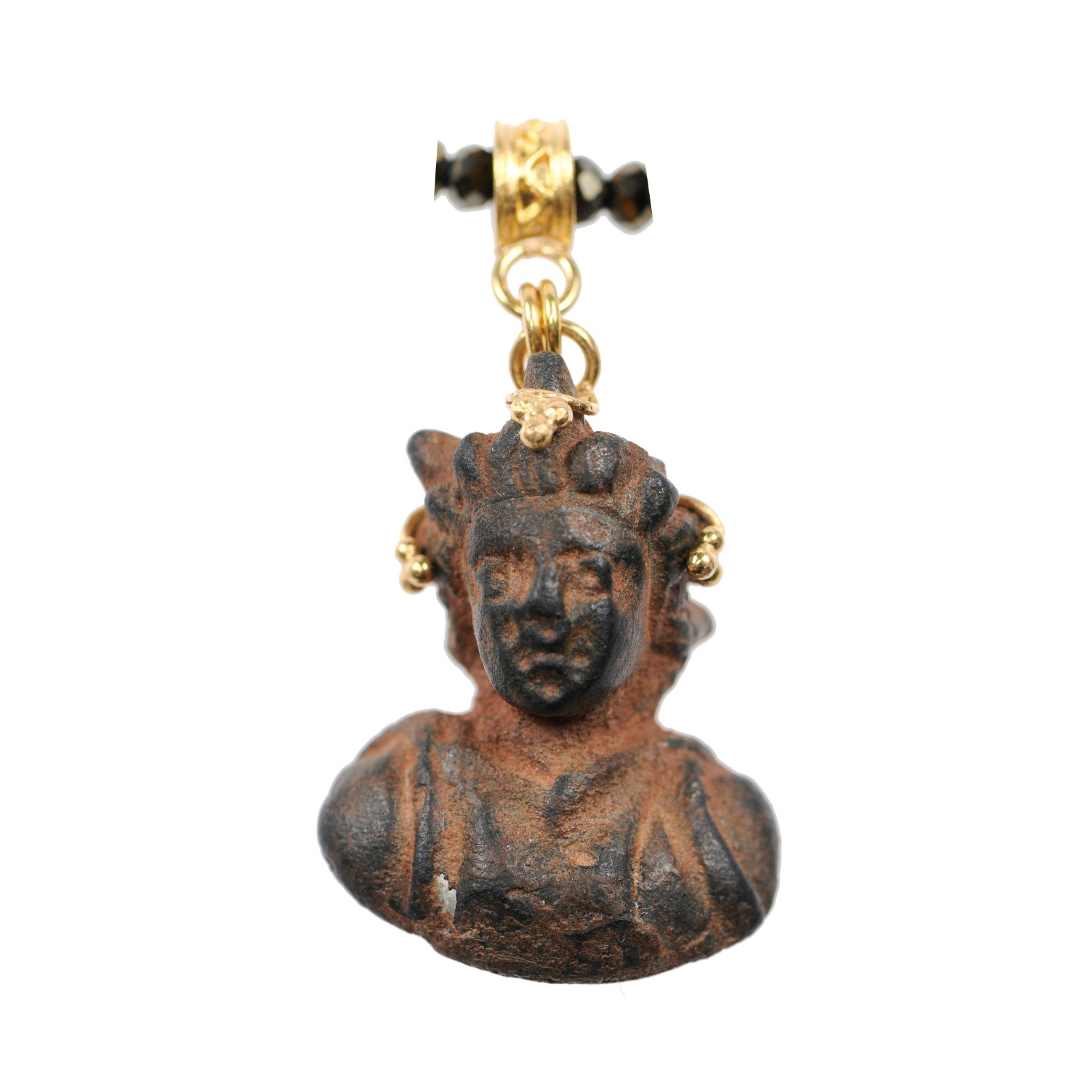 Ancient Roman Prince Bust in 21 kt Pendant