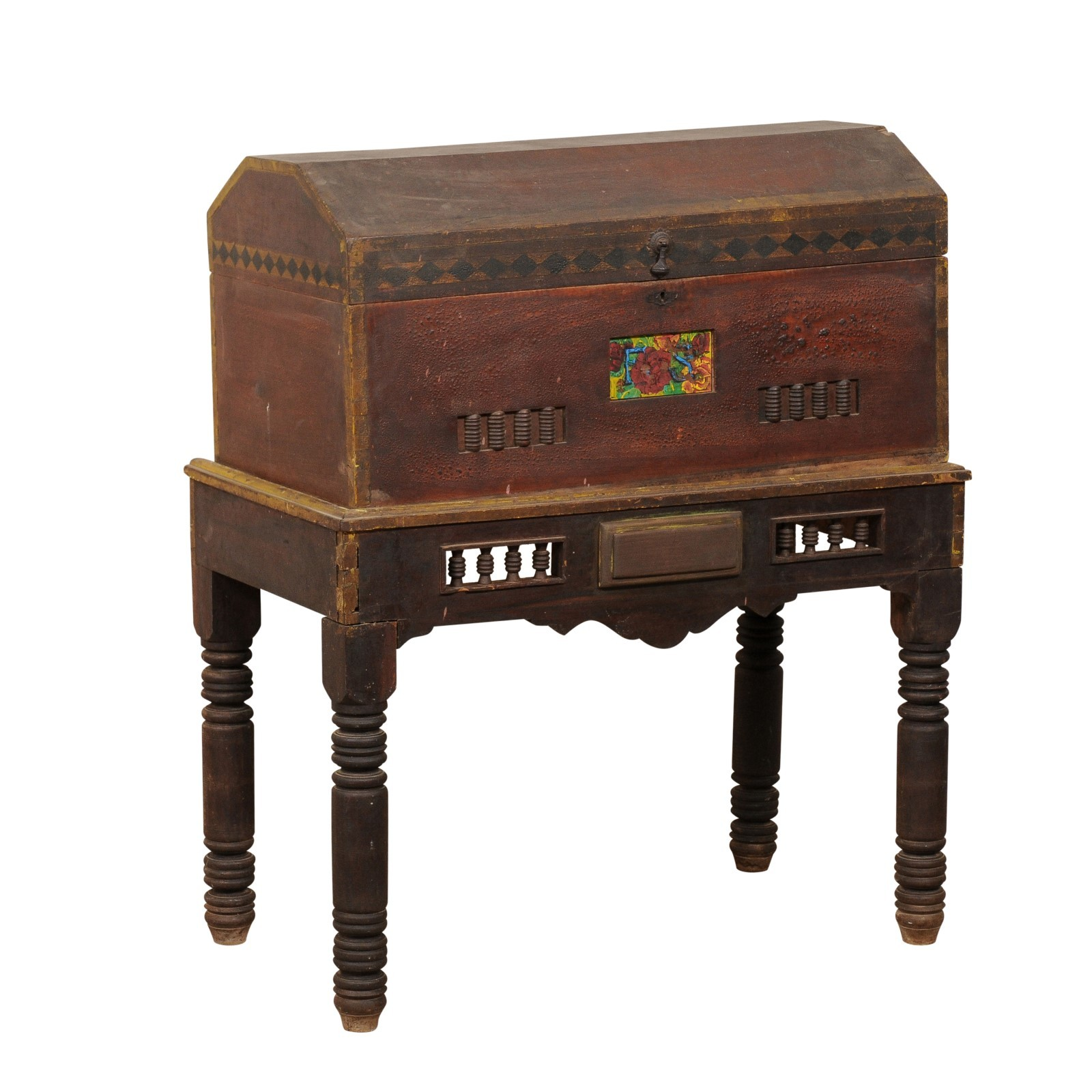 Mexican Wedding Trunk on Table Stand