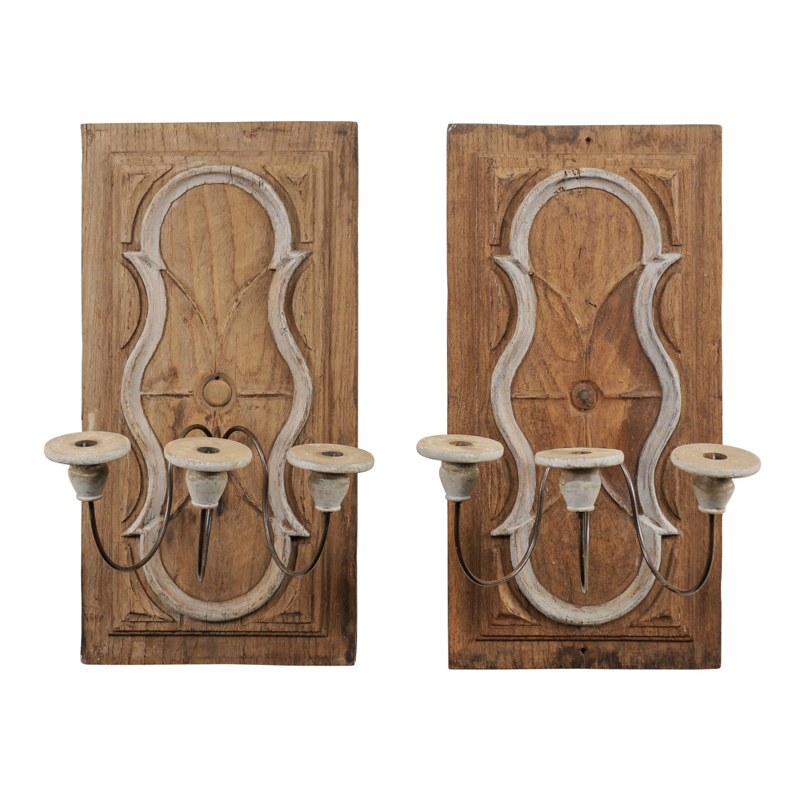 Pair of Italian Plaque Sconces