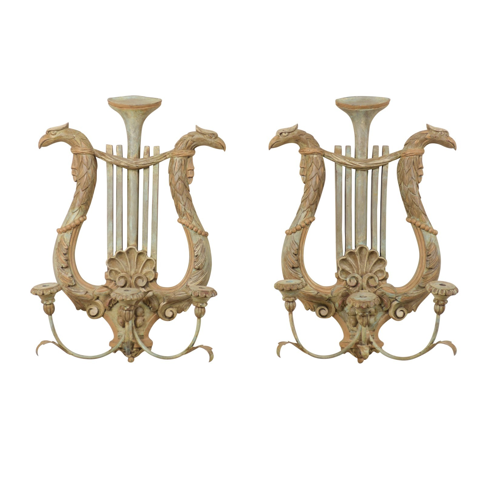 Pair Neoclassical Style Candle Sconces