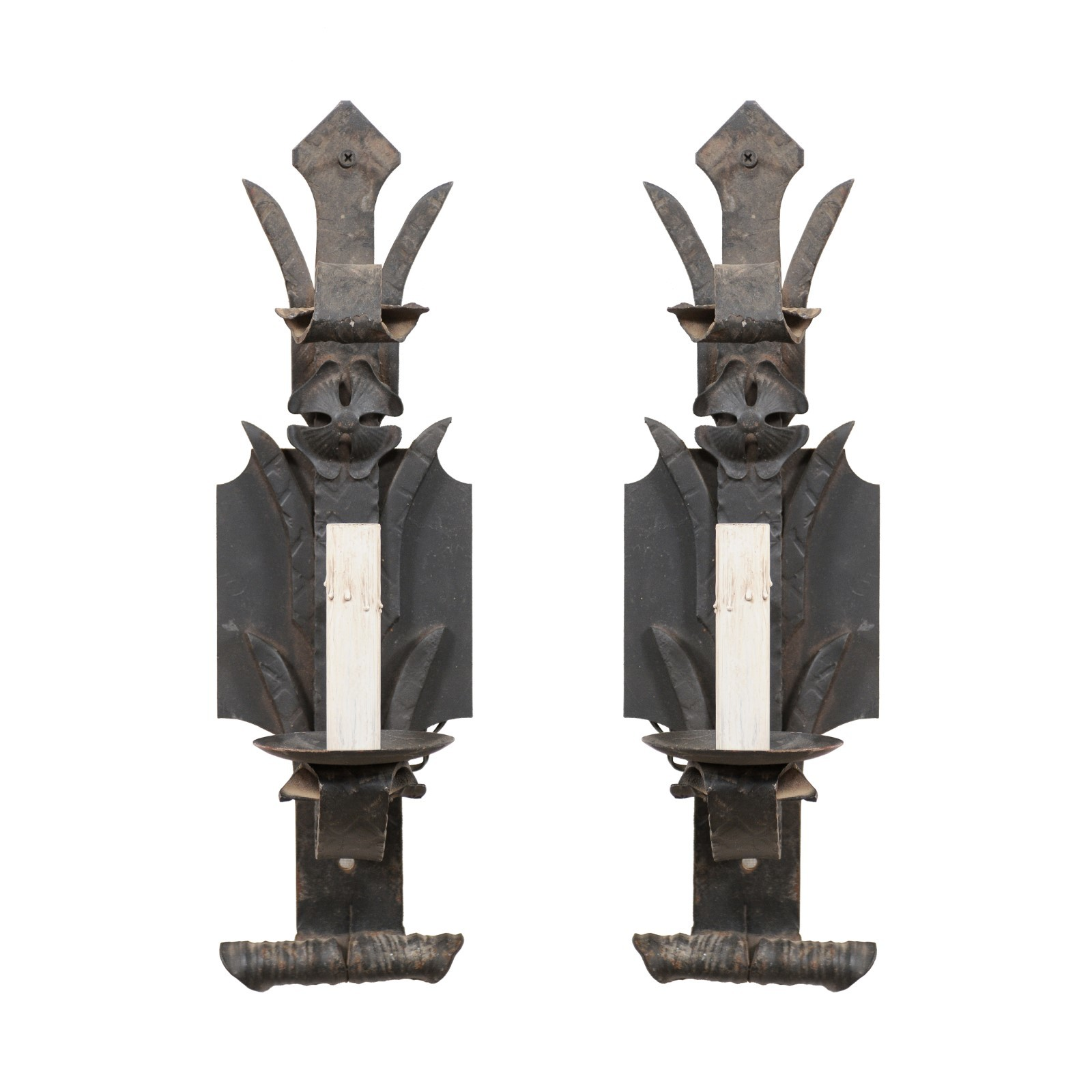 Pair Single Light Sconces from France