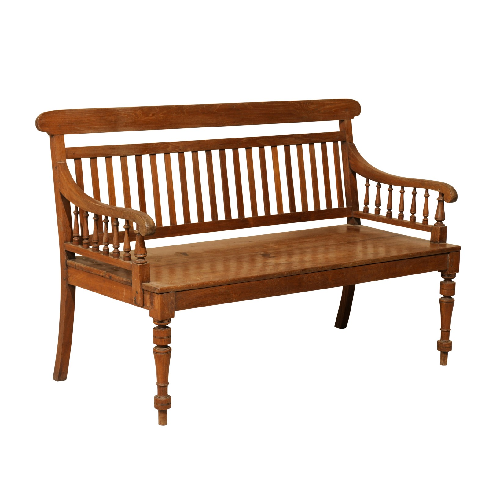 British Colonial Teak Wood Bench | 169 | A. Tyner Antiques
