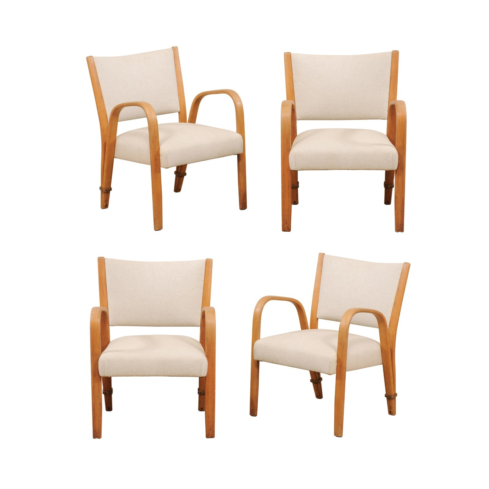 Set of 1960's French Art Deco Arm Chairs