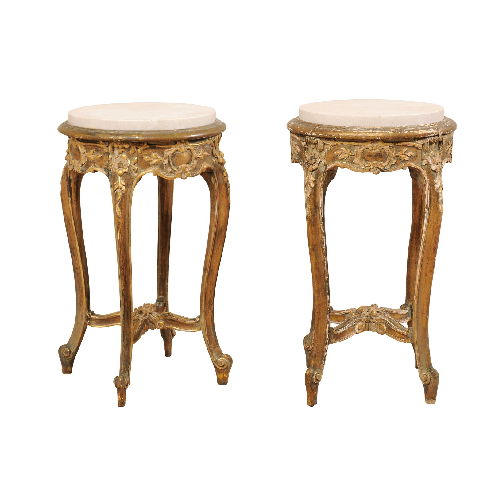 Pair Of French Marble Top Tables 1018 A Tyner Antiques