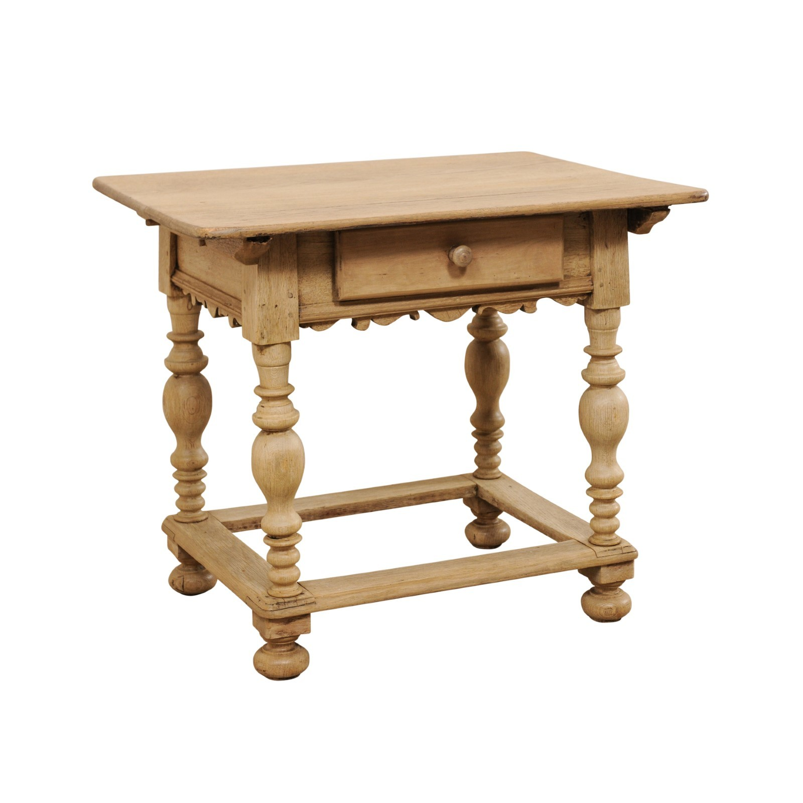 Swedish Period Baroque Bleached Table