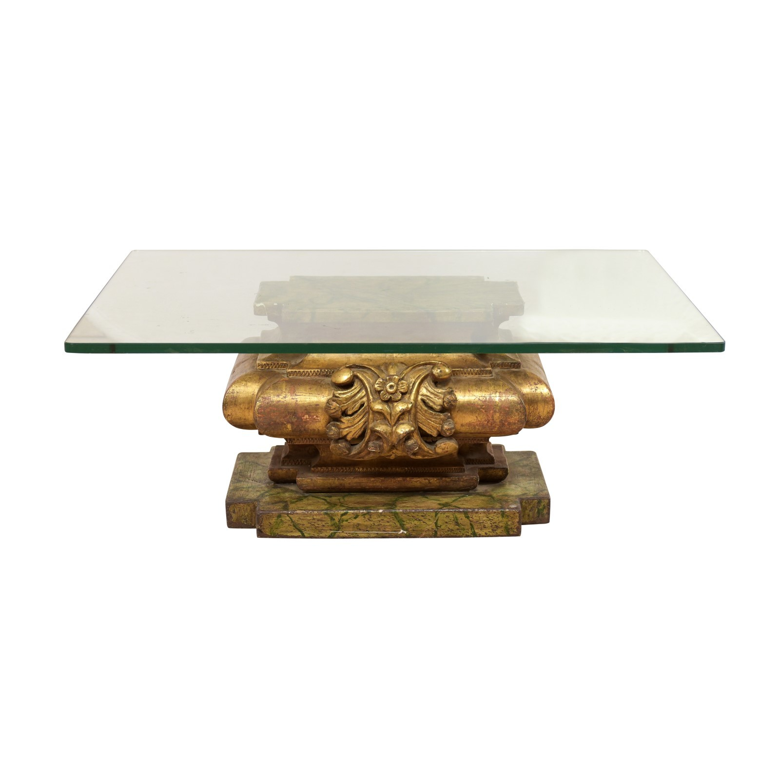 Italian Fragment Table w/ Glass Top