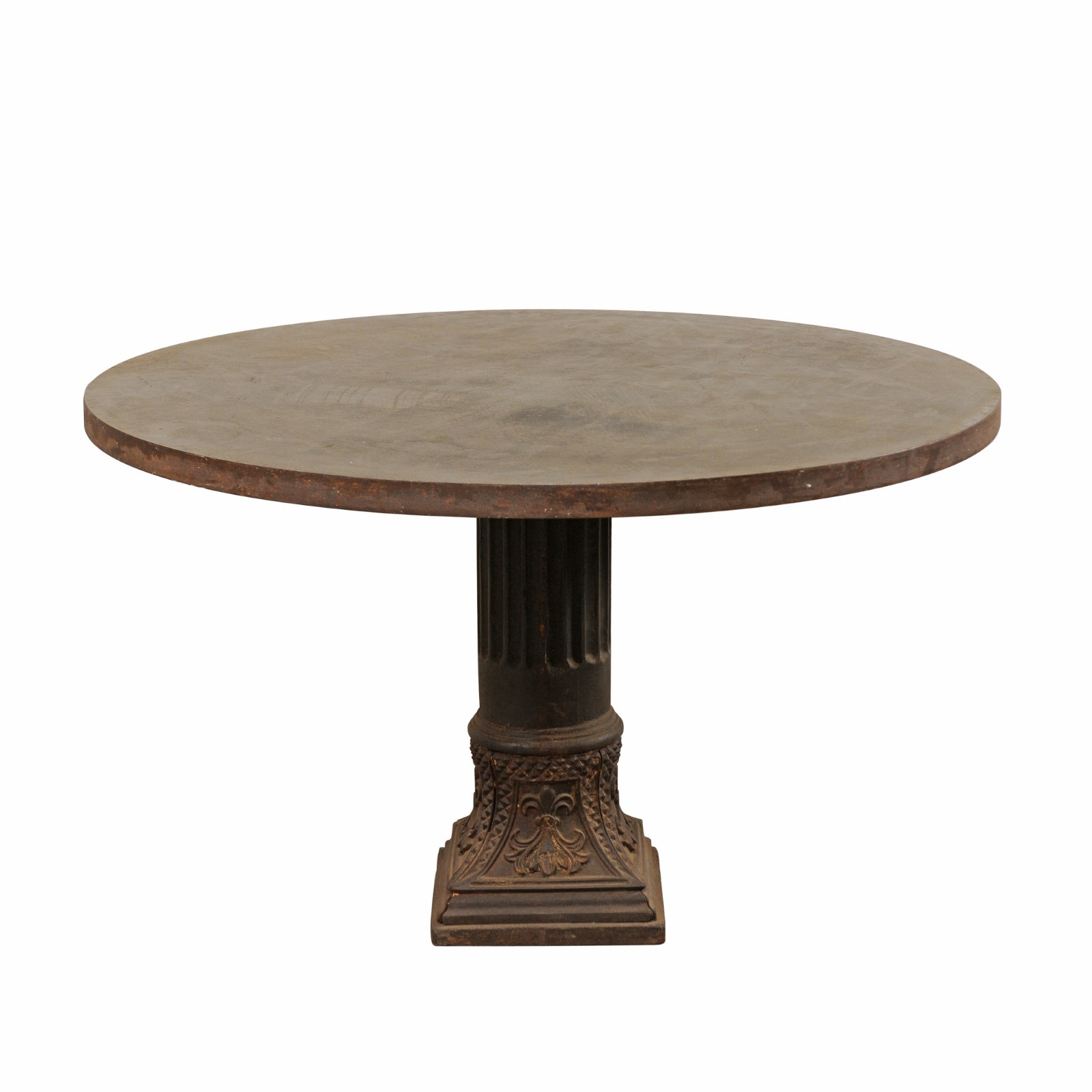 Iron Column Base Table, 4 ft. Diameter