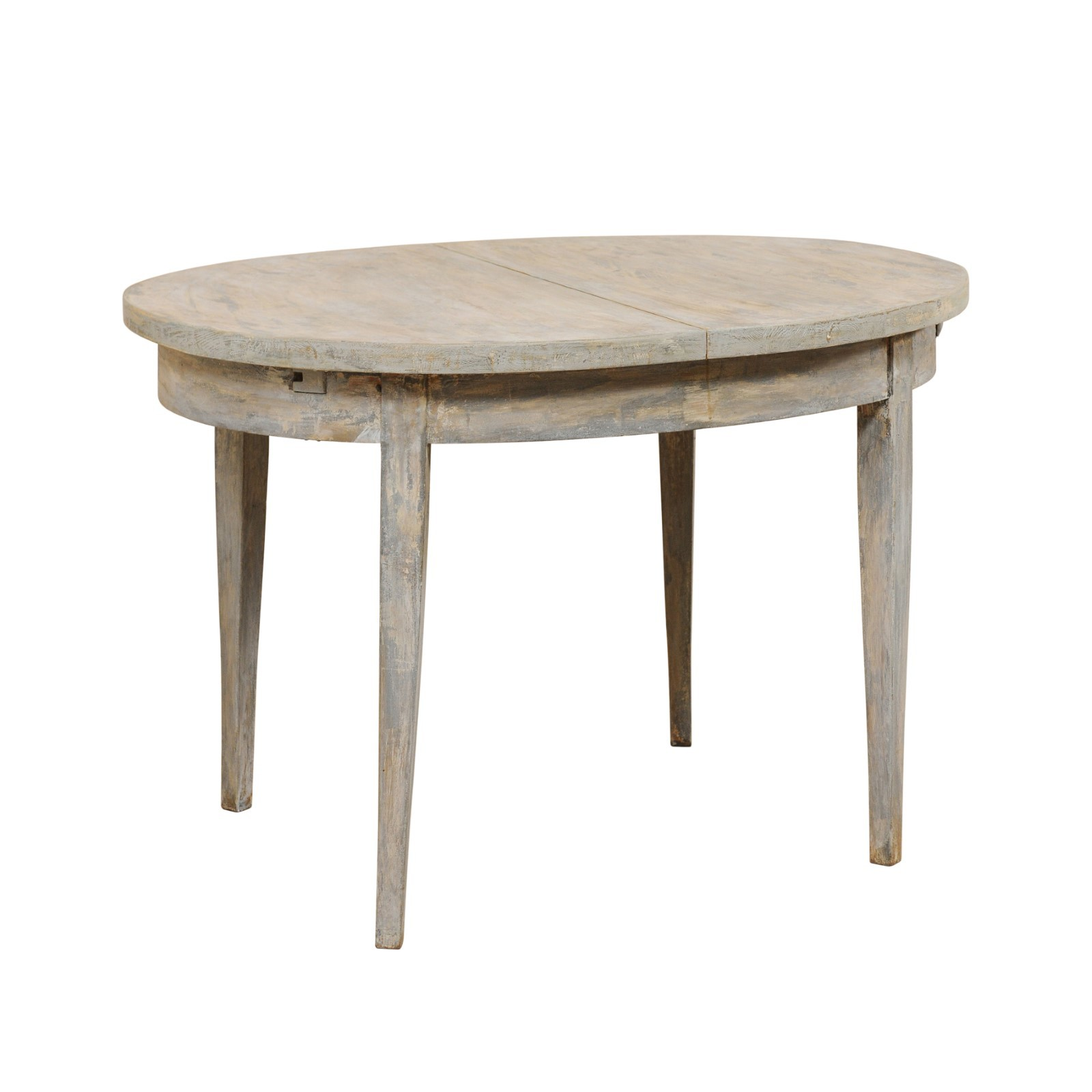 Swedish Oval Wood Table w/ Clean Lines