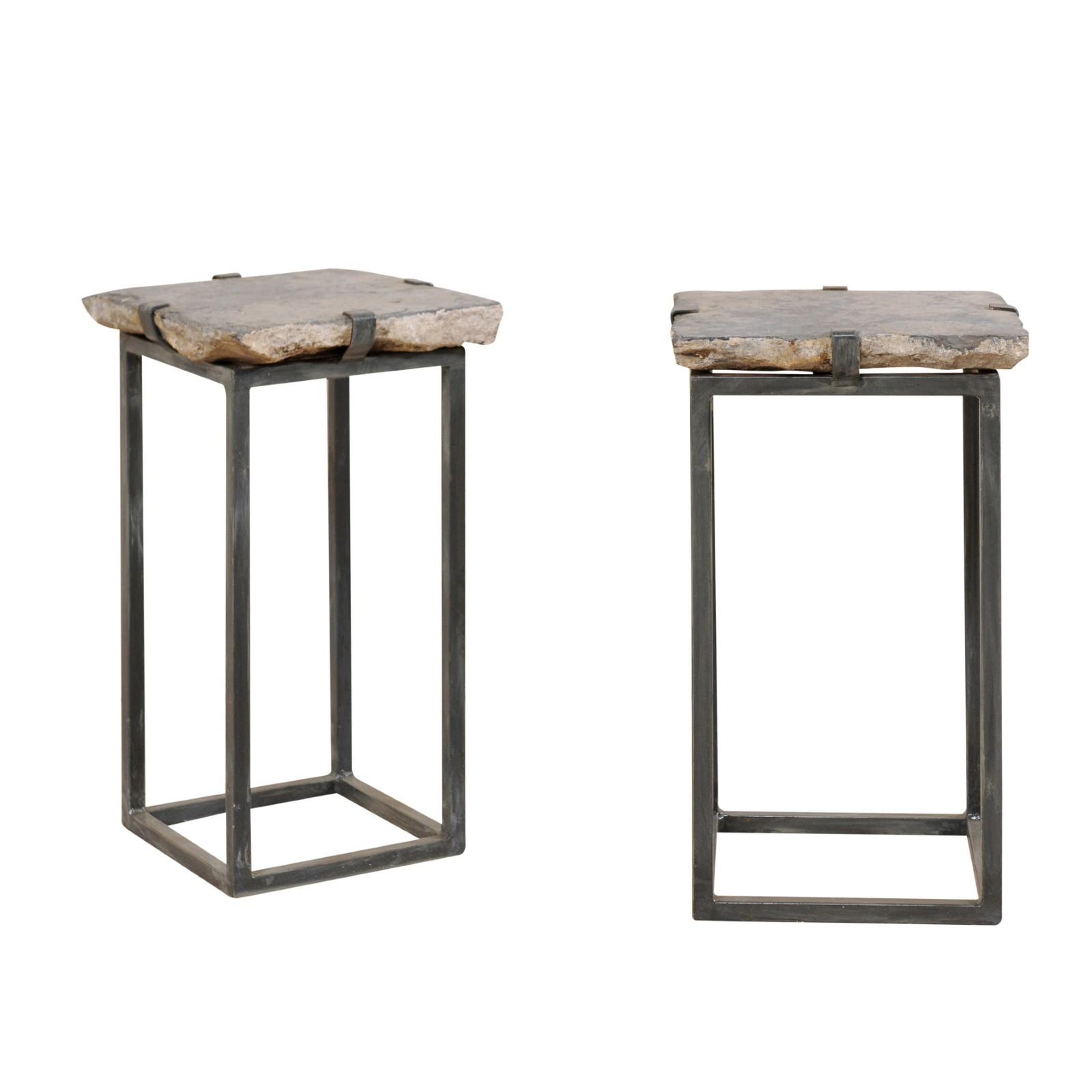 Antique Stone Paver Top Drinks Tables