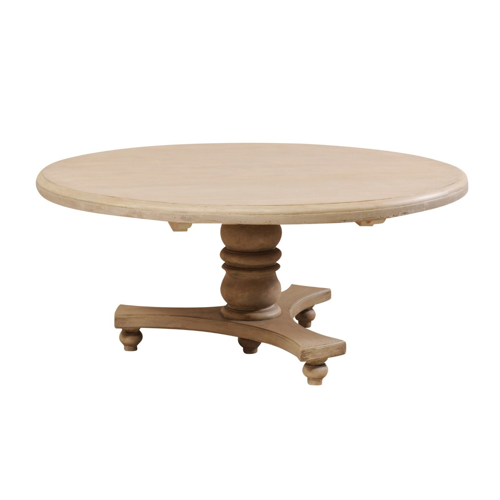 "Round & Grey Colored Table, 65.5"" Dia."