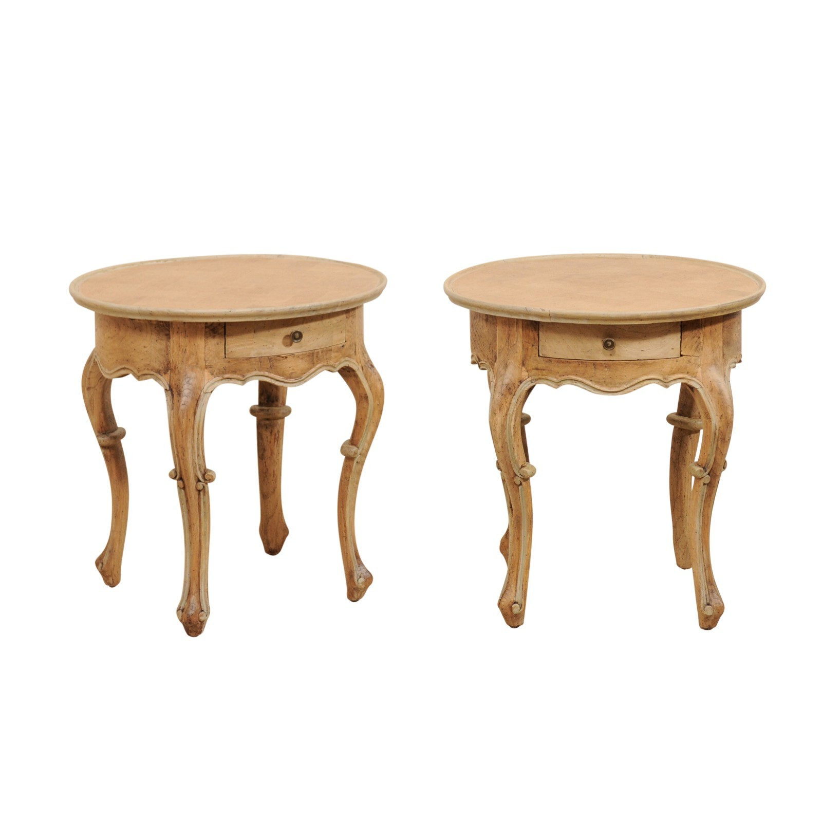 Pair of Round Portuguese Style Tables