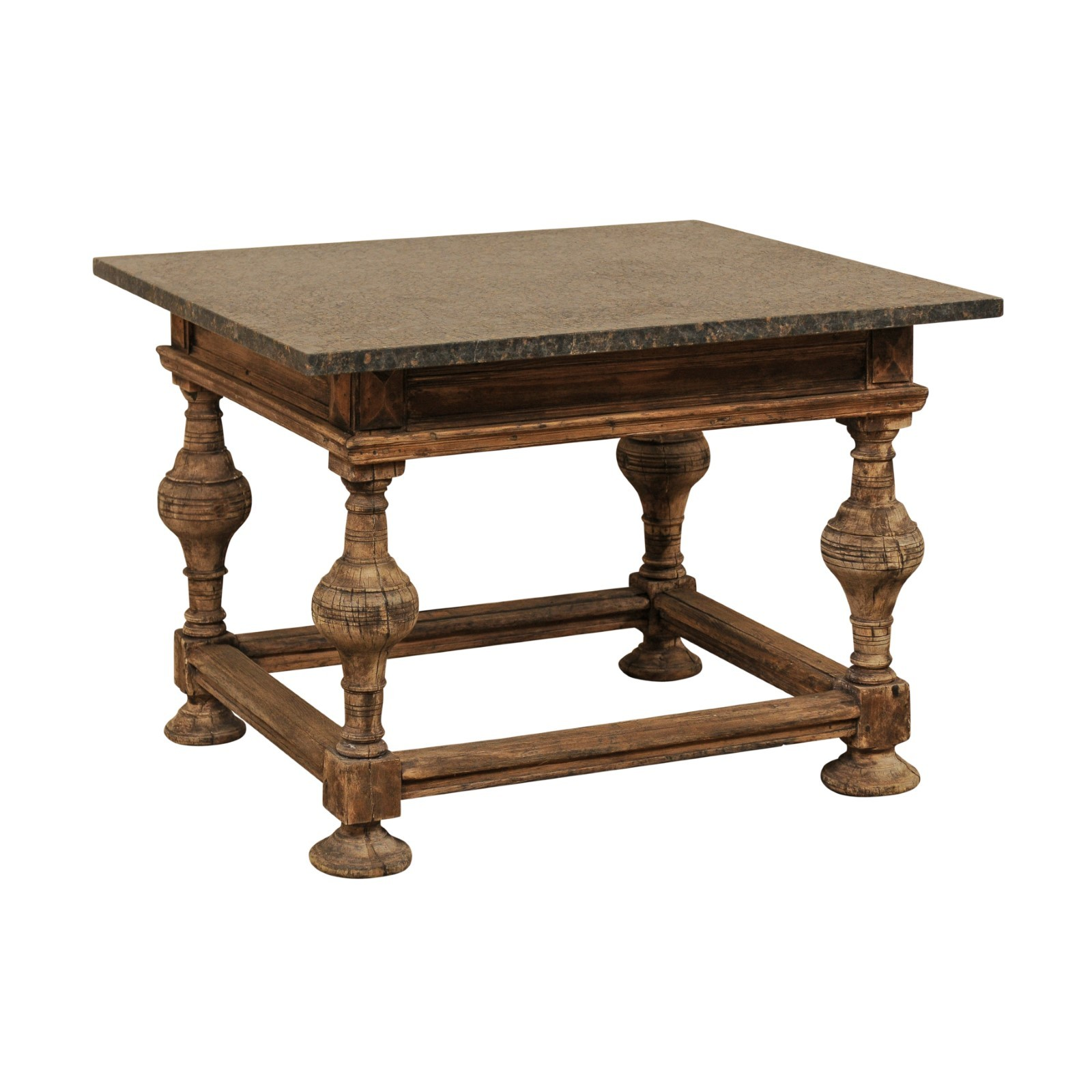 Swedish Baroque Table w/Granite Top