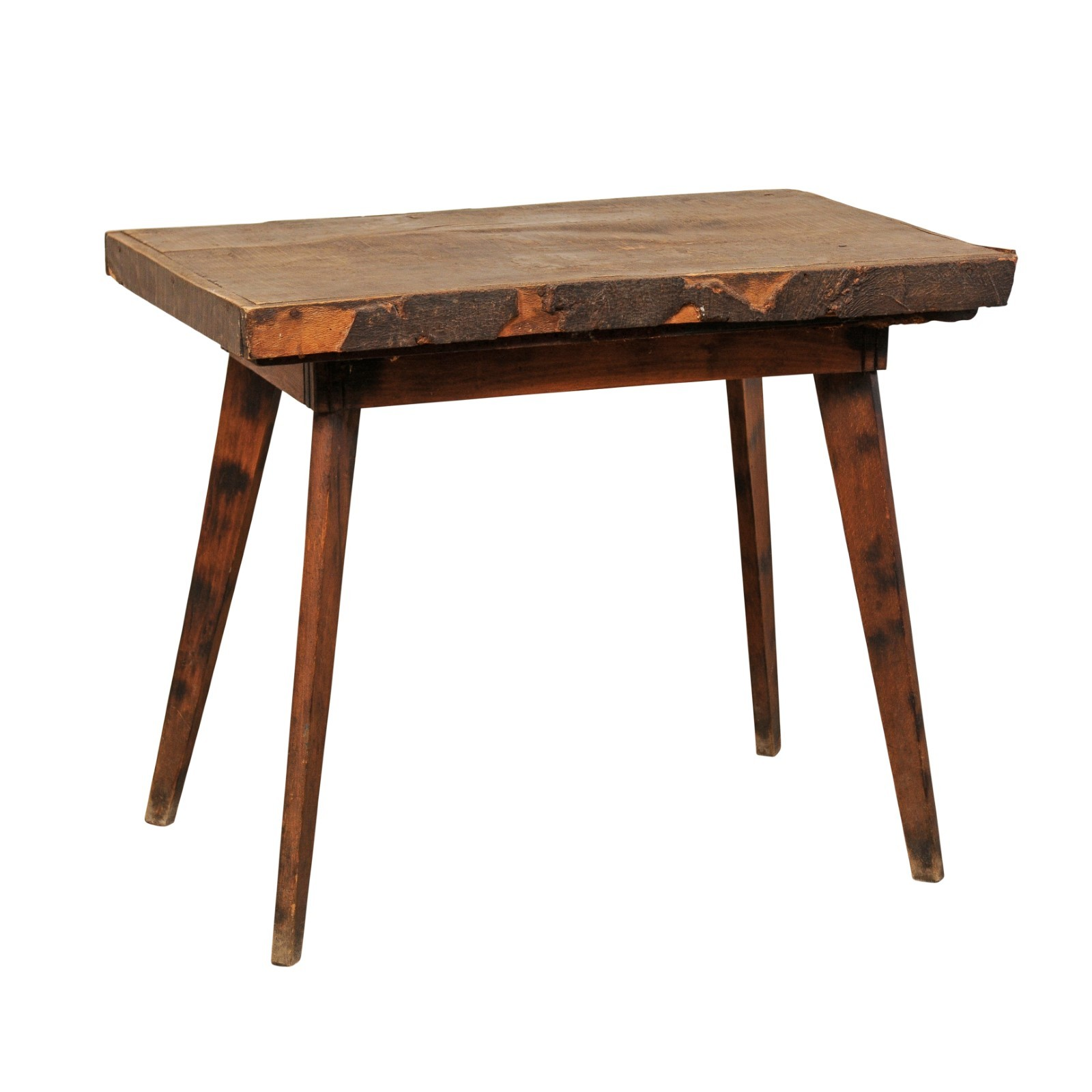 Rustic Spanish Wood Table, Mid 20th C.