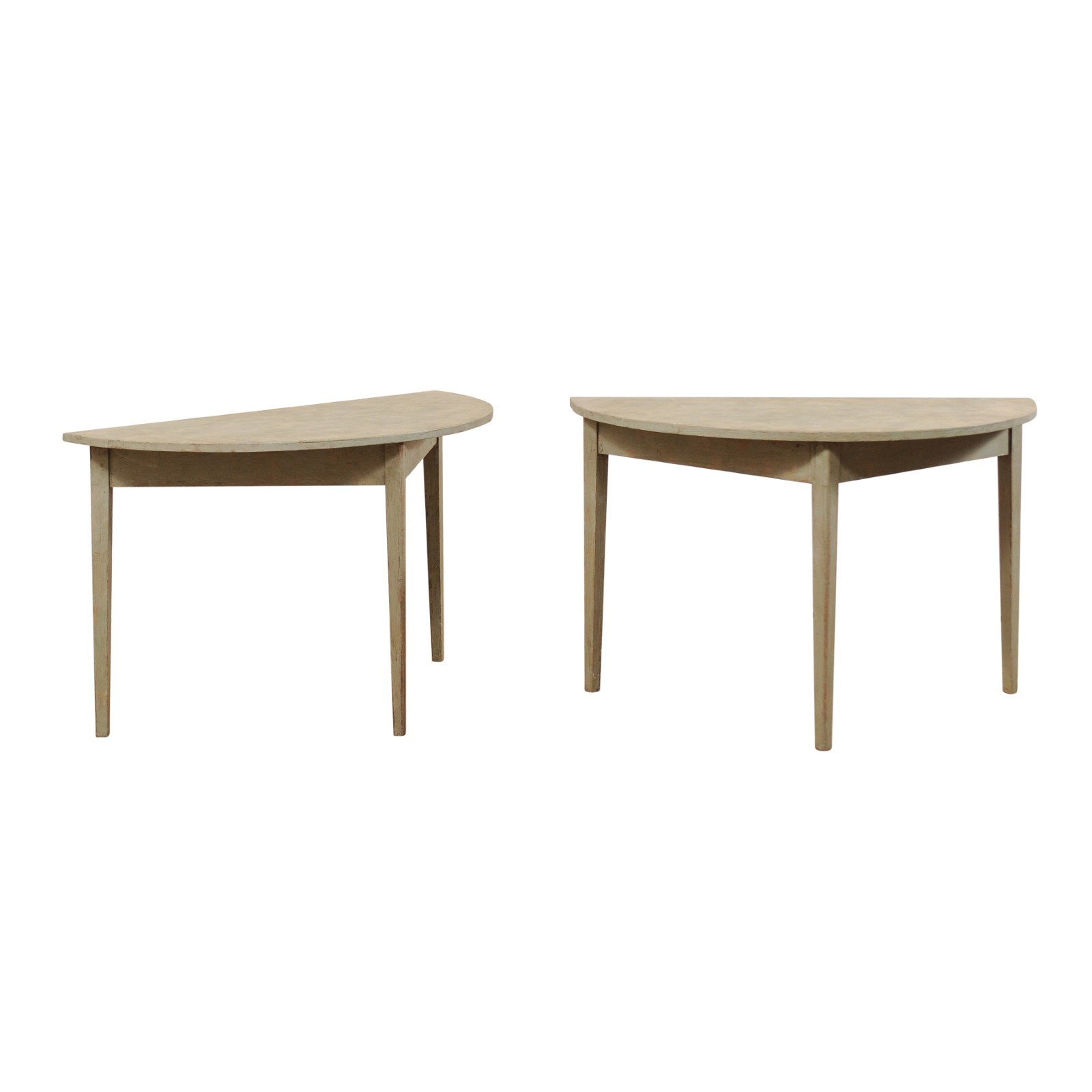 Pair Demi-Lune Tables, 19th C. Sweden