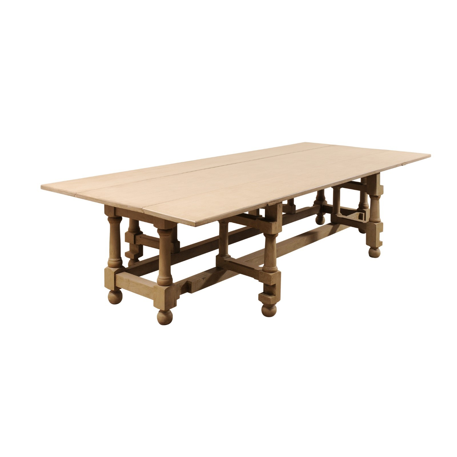 Large Double Gate-Leg Table, 10.5 ft