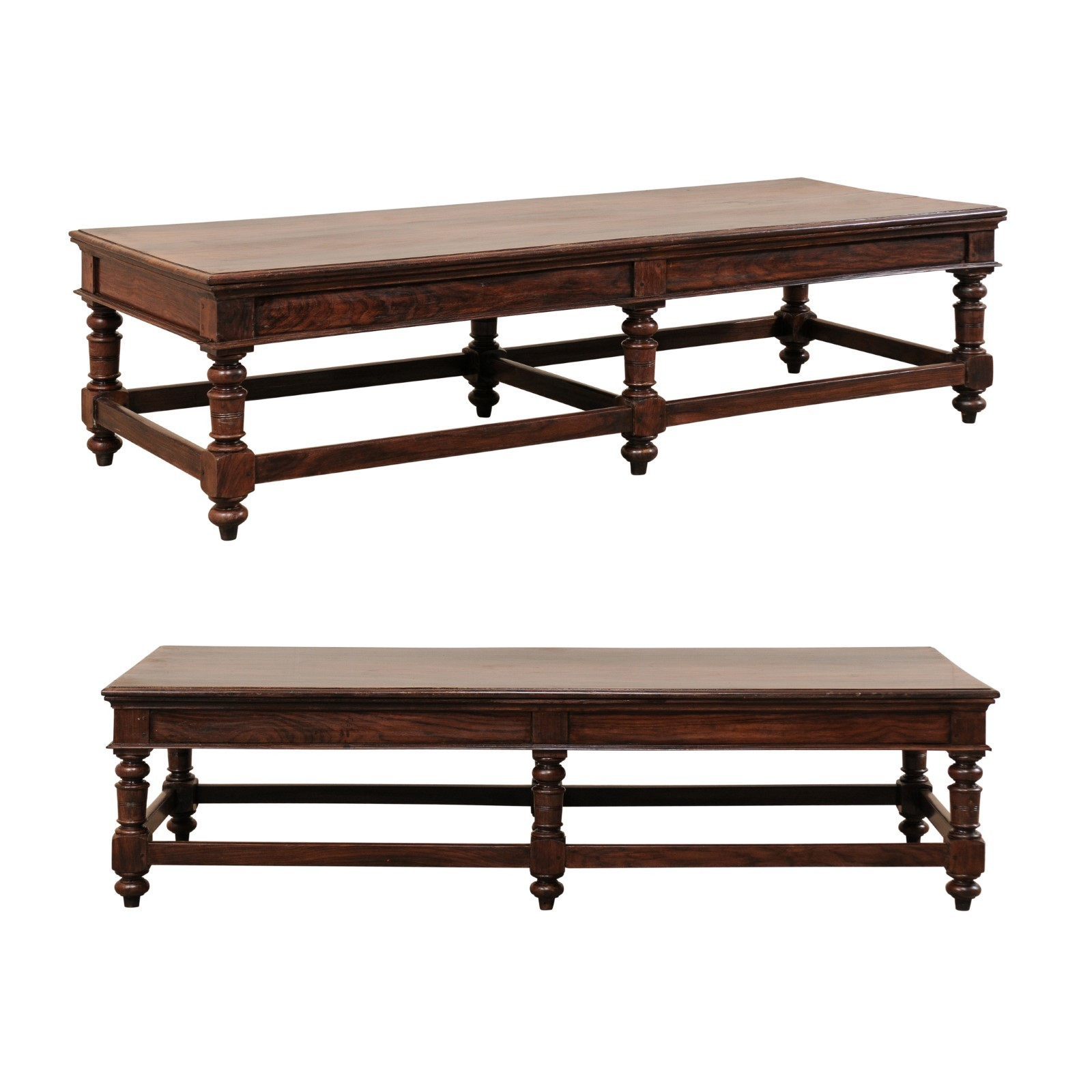 Pair Rosewood Coffee Tables (or Benches)