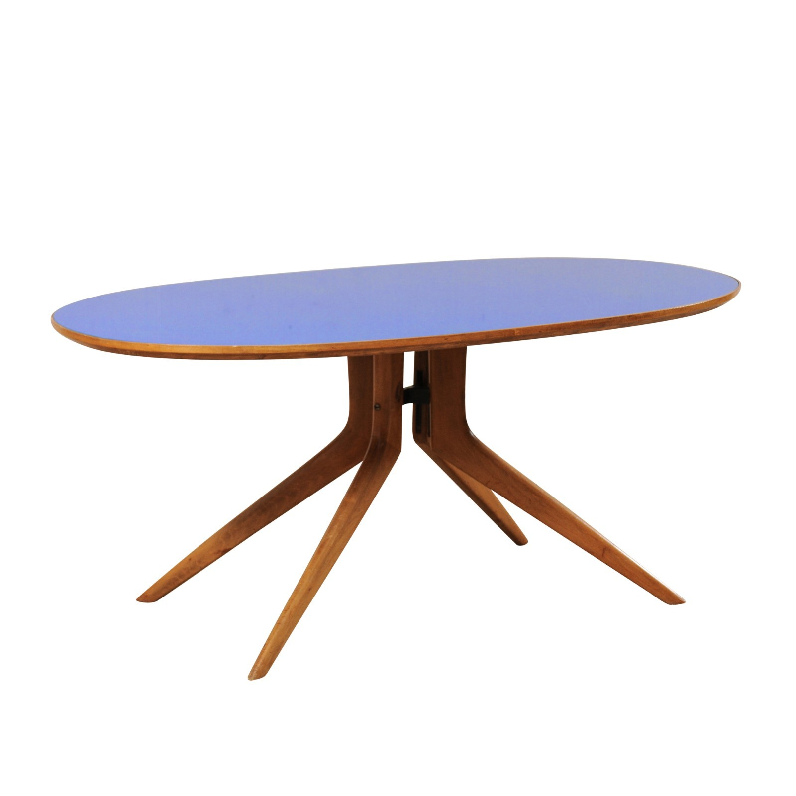 Mid-Century Modern Elliptical Table, Italy