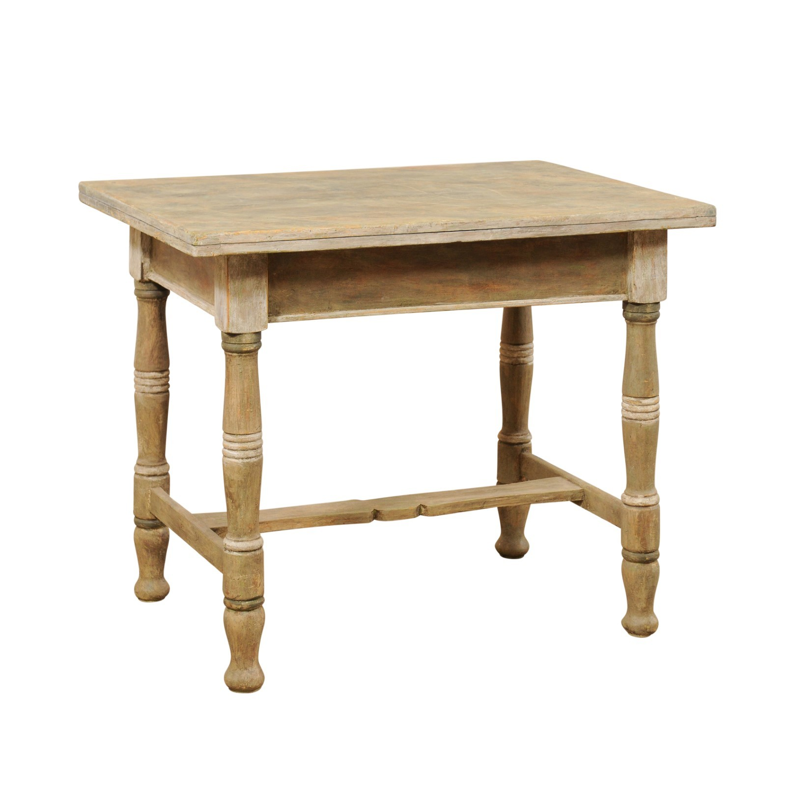 Antique Table w/Transitional Top & Storage