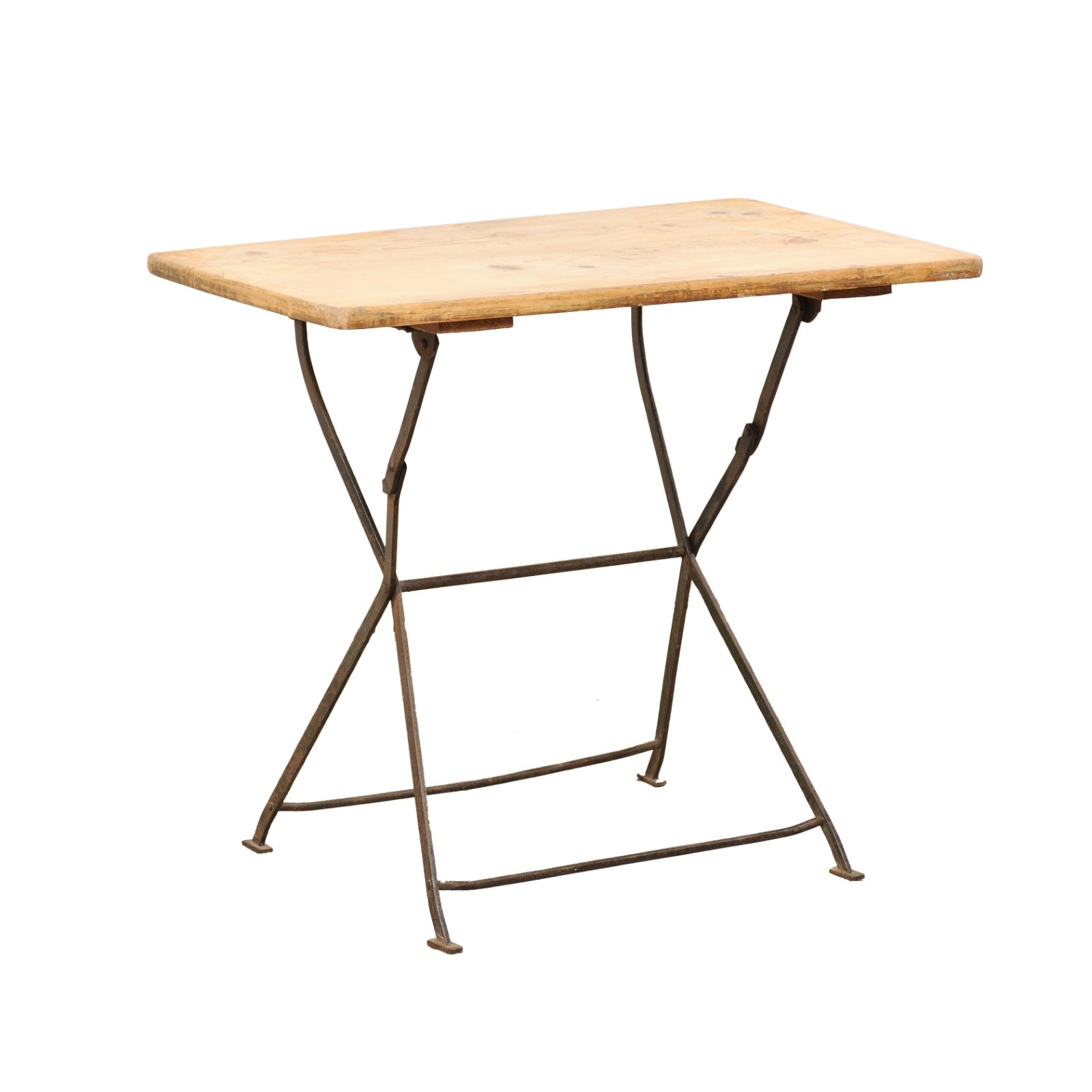 Belgian Wood Top & Metal Folding Table