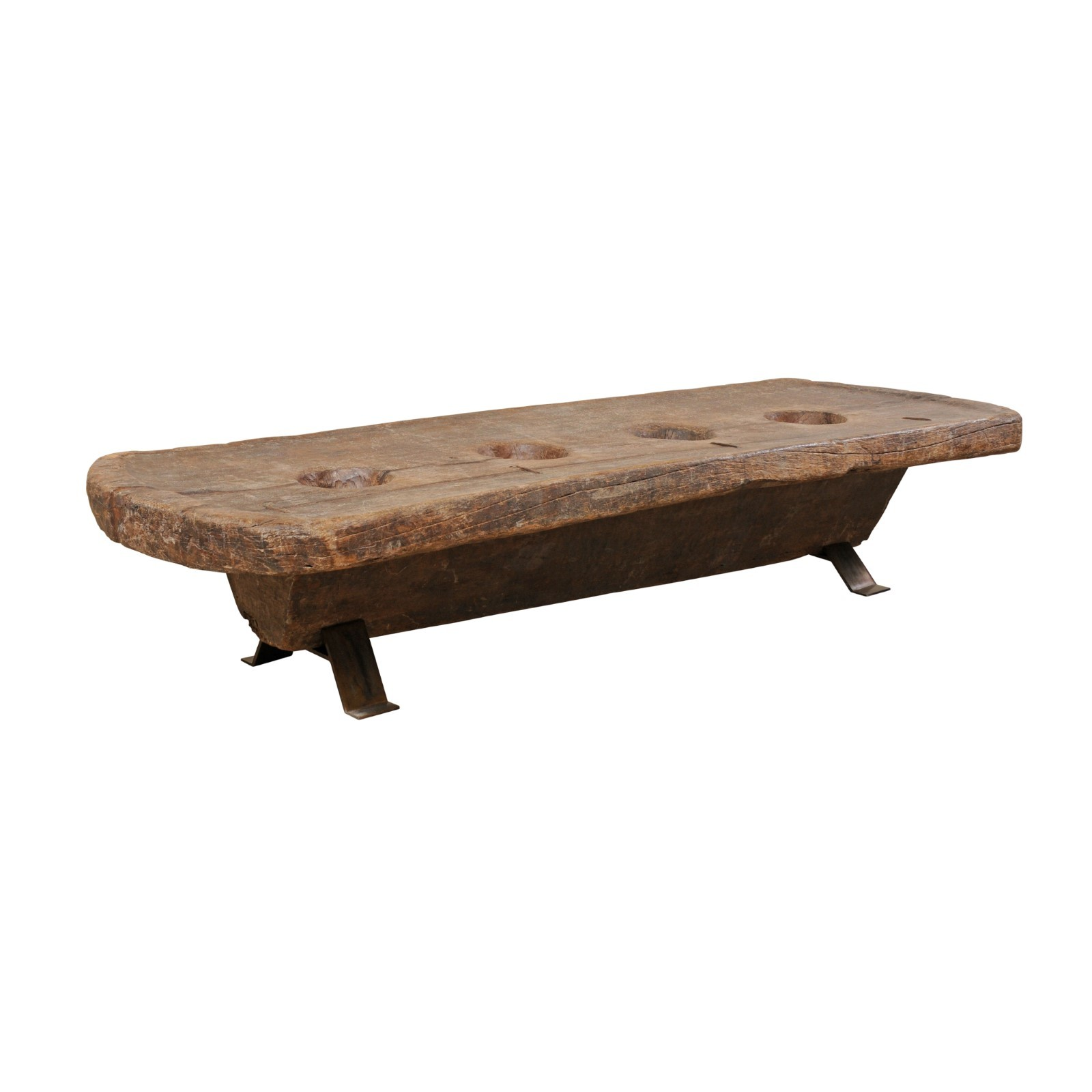 Naga Tribe Grain Grinding Coffee Table
