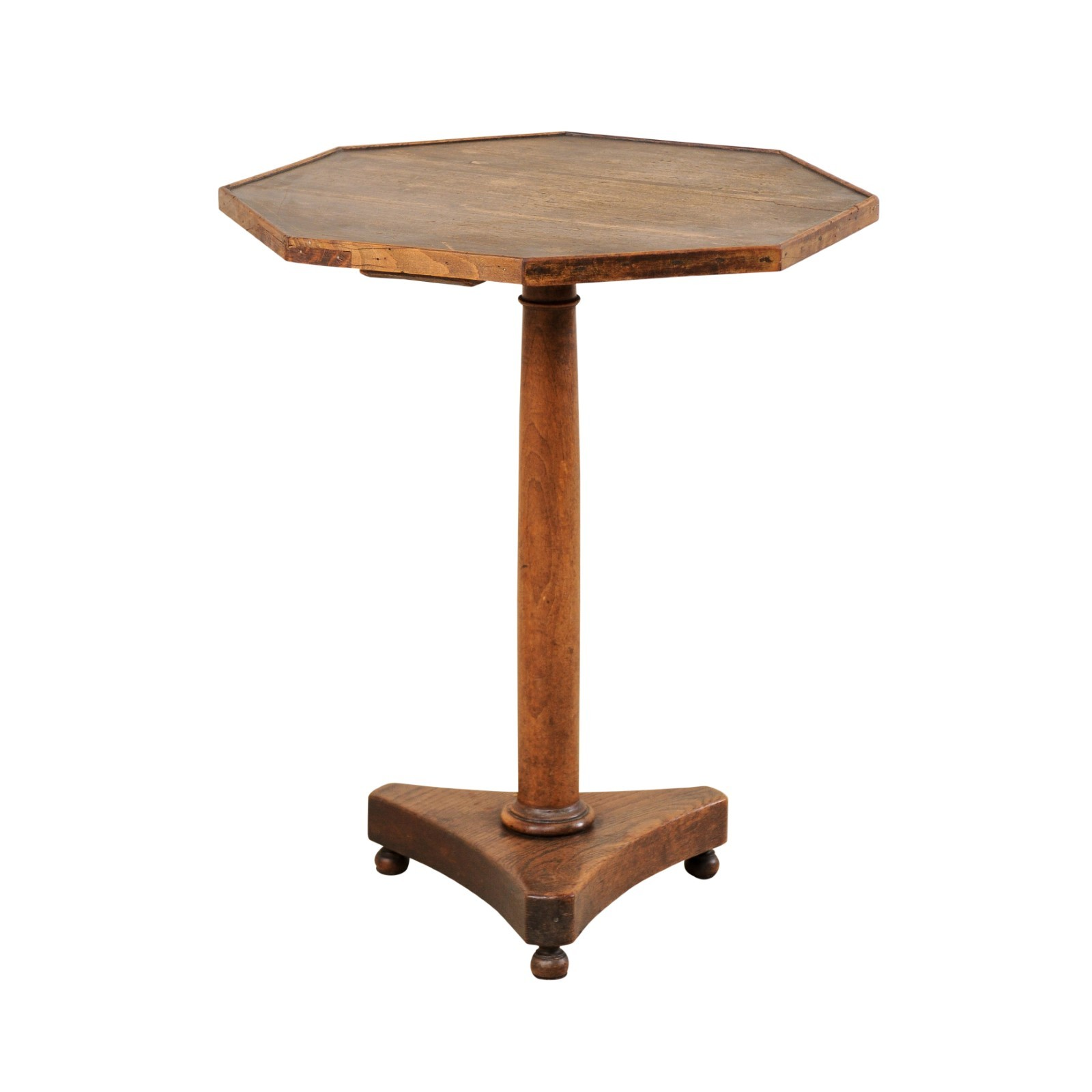 French Pedestal Table w/Octagonal Top