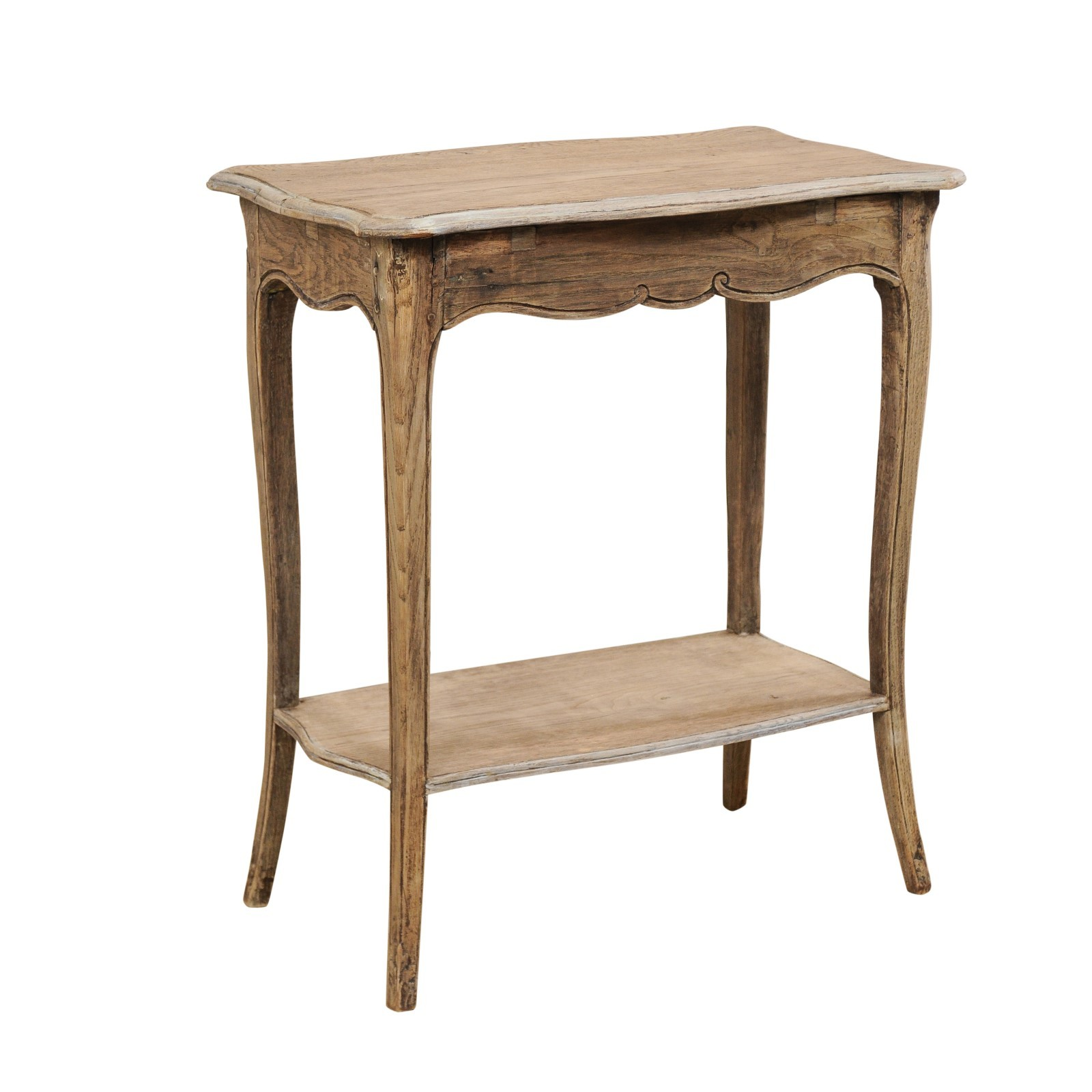 18th C. French Side Table w/Lower Shelf