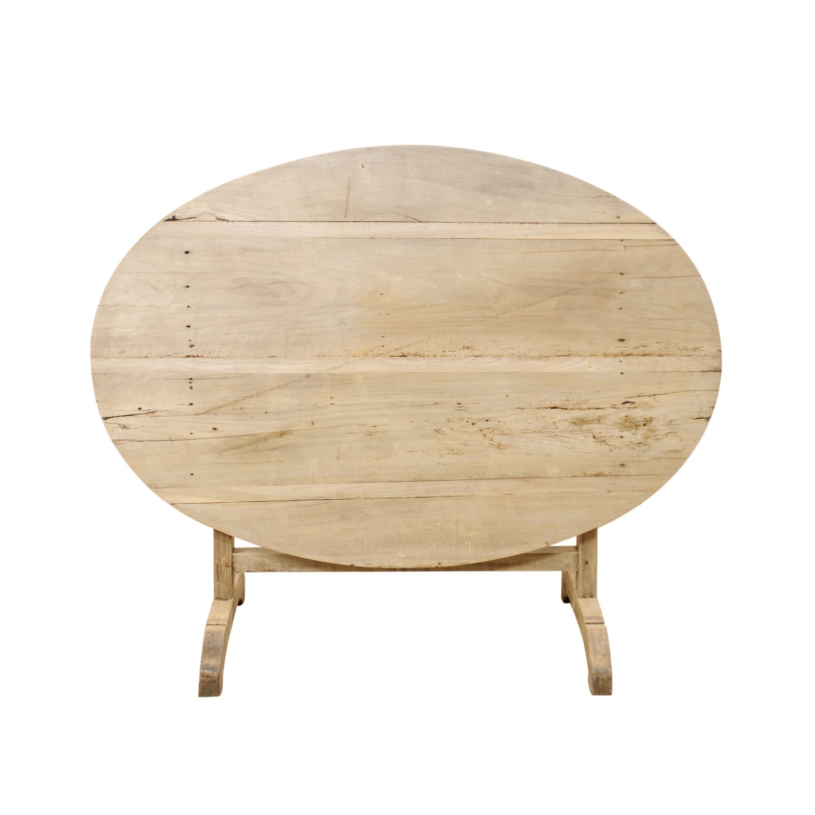 Antique French Oval Wine Tasting Table