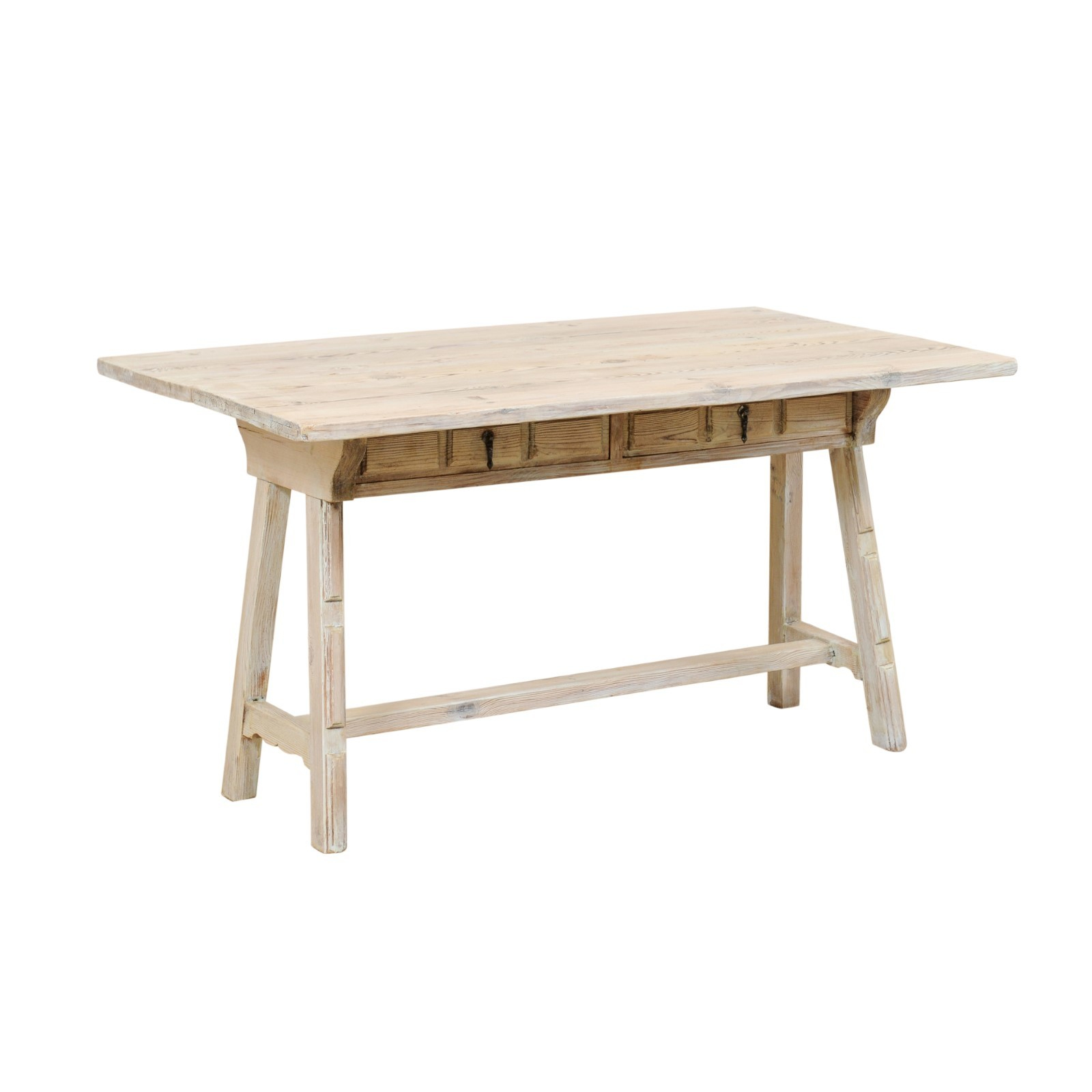 Transitional Top Table w/Sawhorse Legs