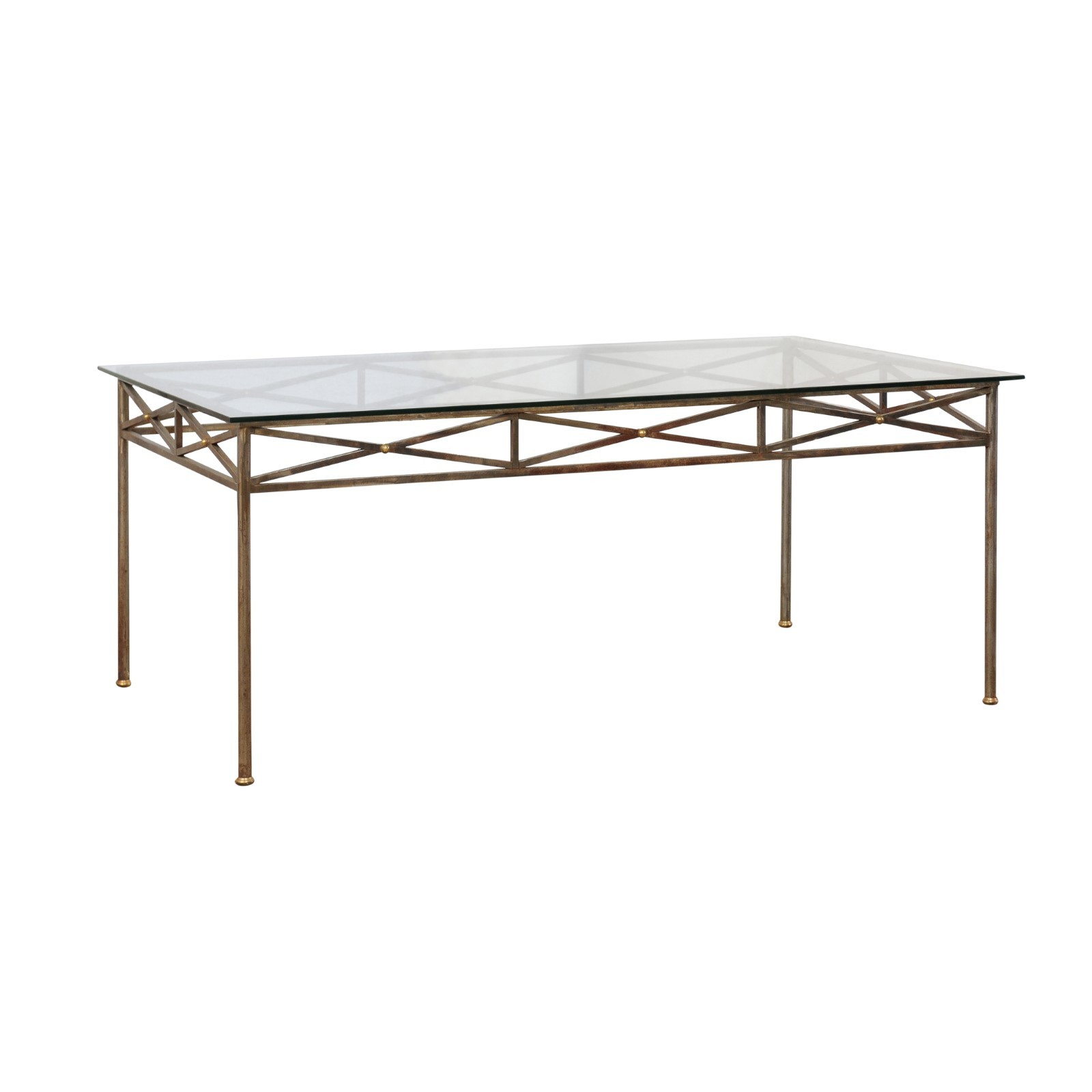A Glass Top Table w/ Neoclassical Elements