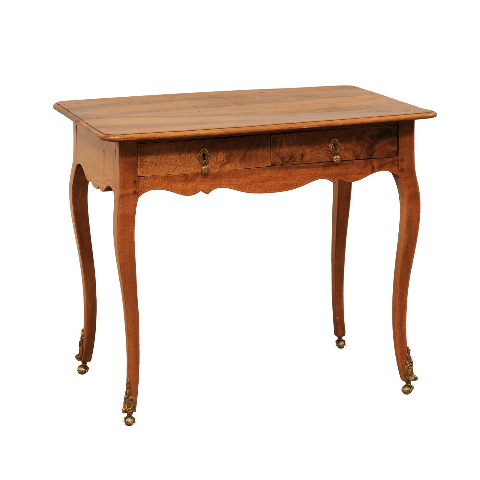 French Louis XV Style Two-Drawer Side Table