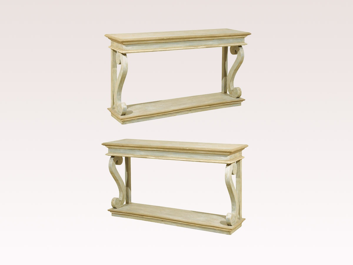 A Single Painted Console Table