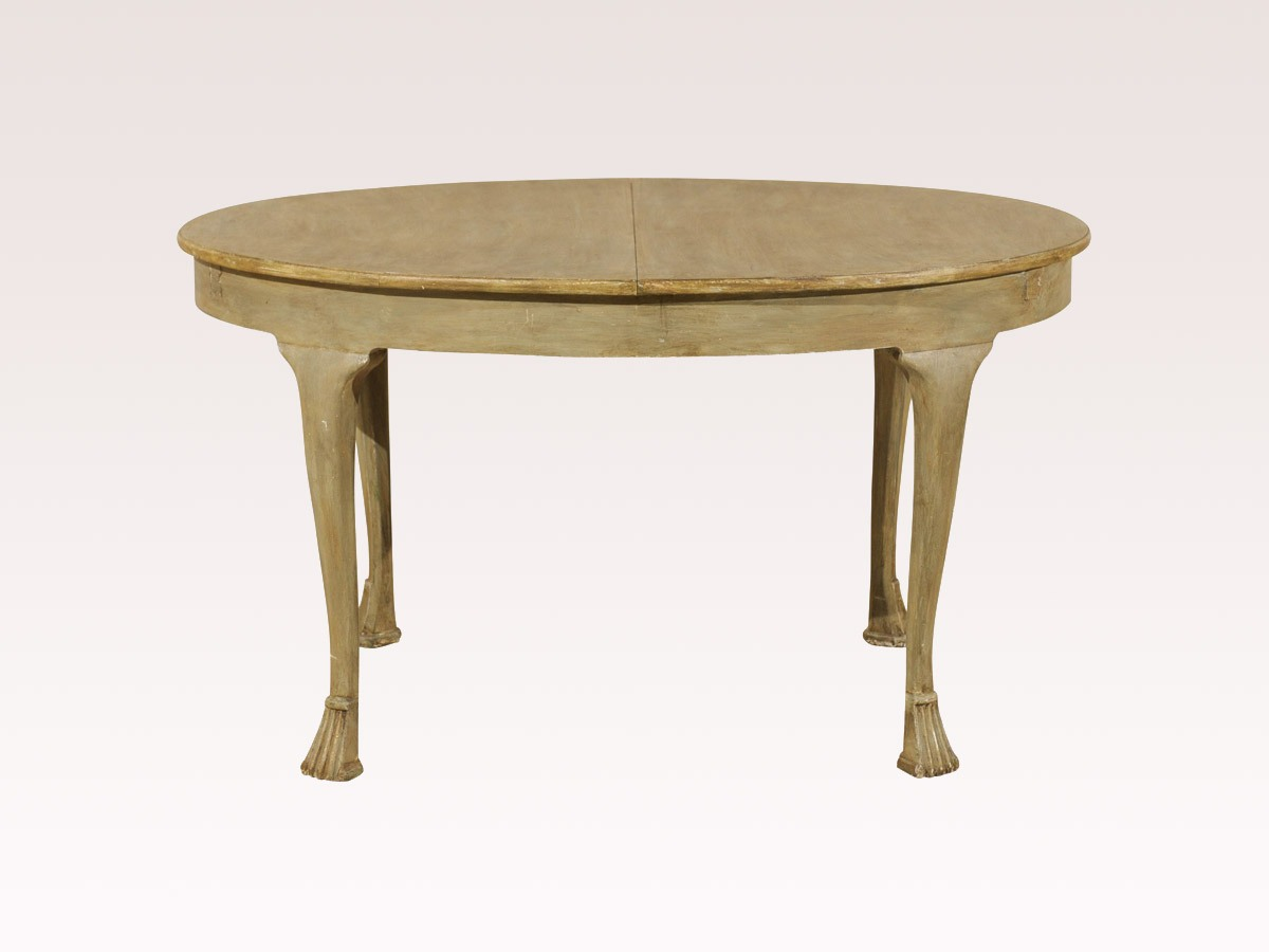 European Oval Table, Circa 1880