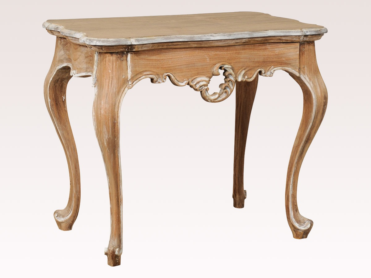 Carved Wood Accent Table