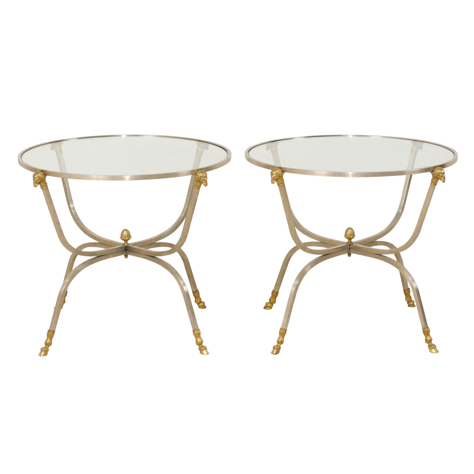 Fantastic Pair Of Italian Glass Top Tables 940 A Tyner Antiques Interior Design Ideas Clesiryabchikinfo
