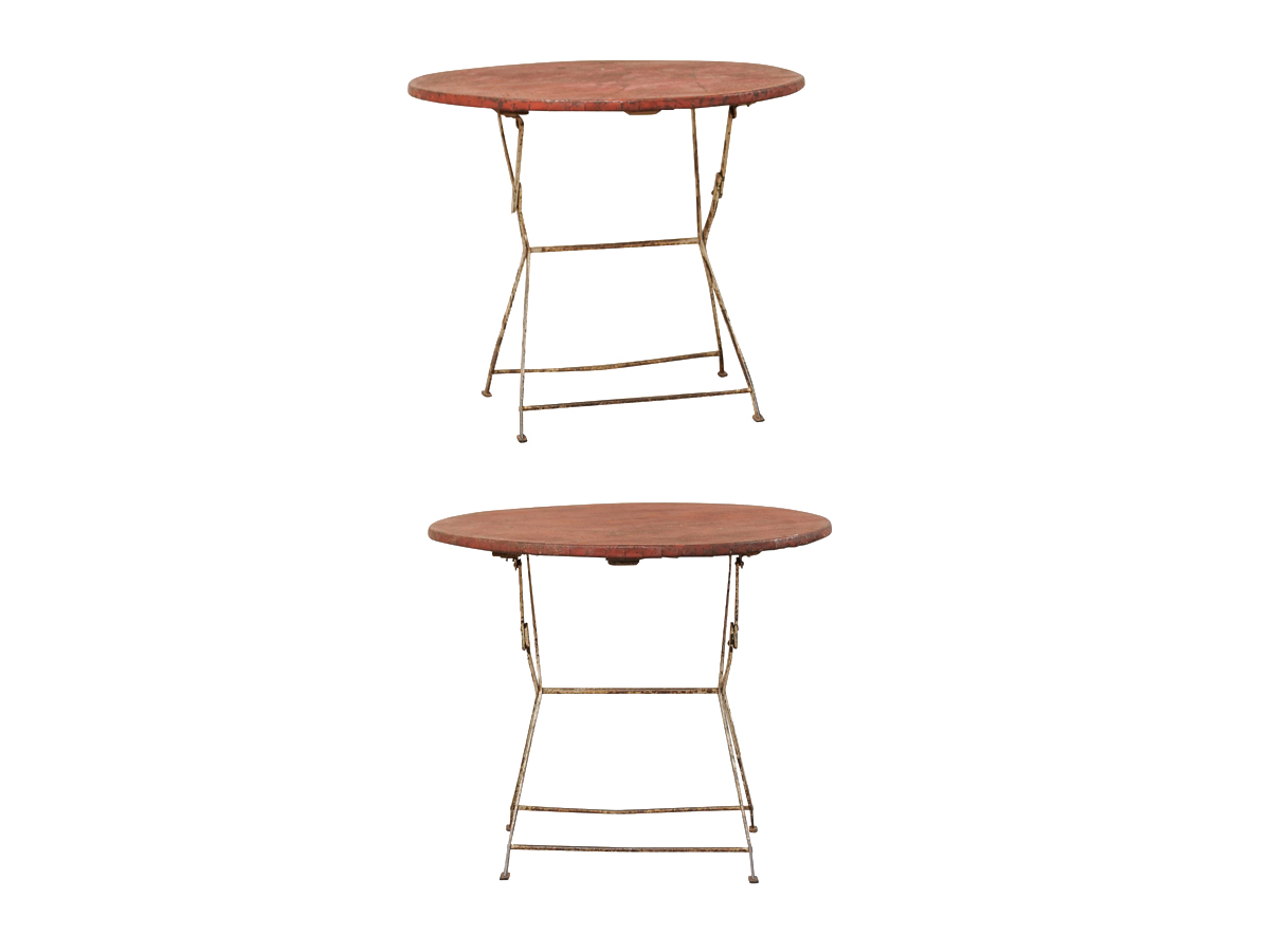 Two Metal Café Collapsible Tables