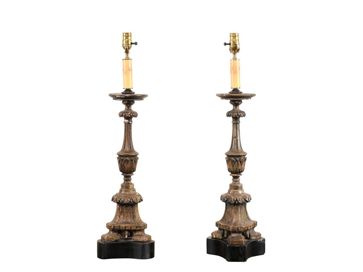 alter lighting. Pair Of Italian Alter Stick Lamps Lighting