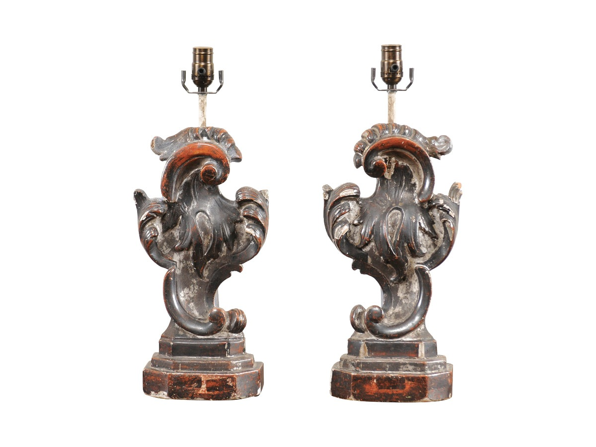 Pair of Rococo Style Table Lamps