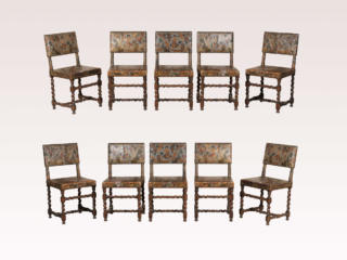 Set of 10 Swedish Baroque Chairs