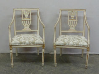 Pair of 19th C. Painted Chairs