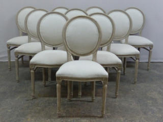 Set of 10 Louis XVI Style Chairs