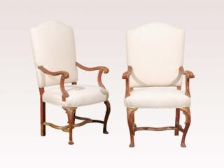 Pair of Italian 19th C. Fauteuils