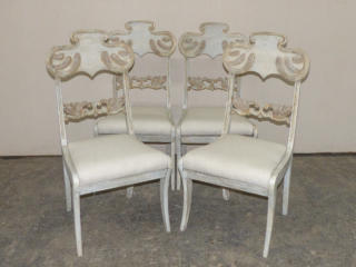 A Set of Four Swedish Wood Chairs